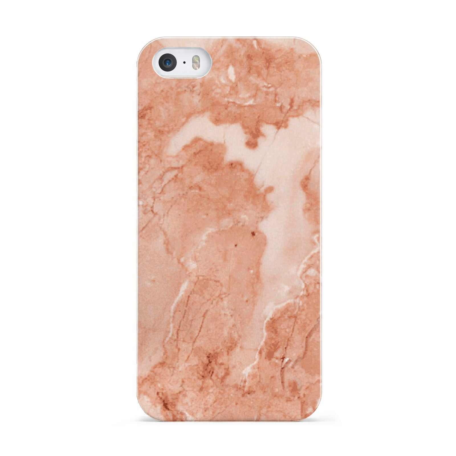 Faux Marble Red Apple iPhone 5 Case