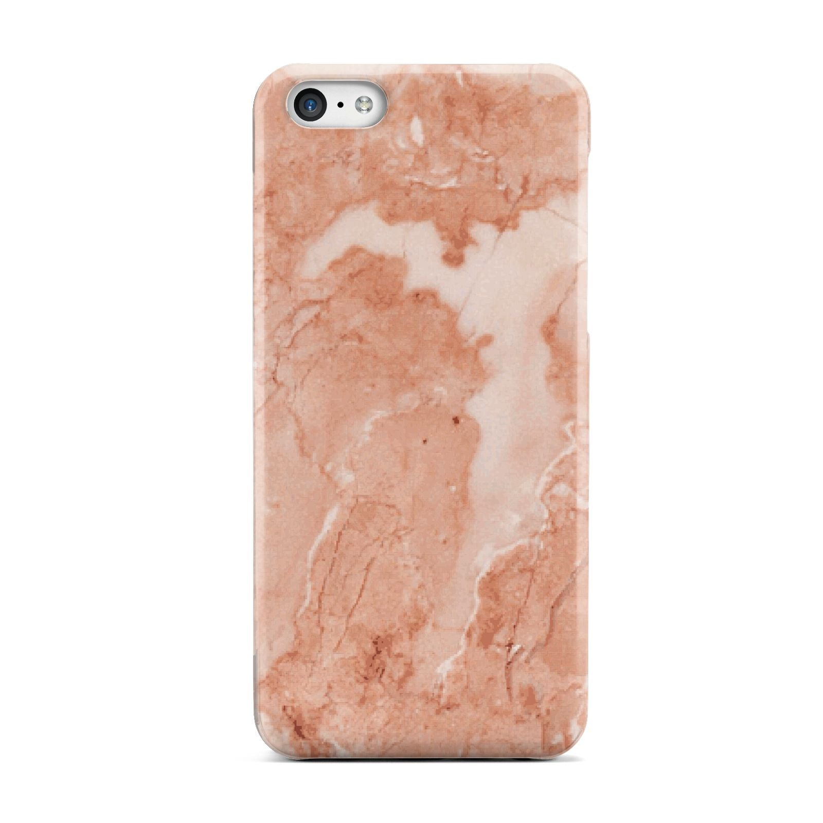 Faux Marble Red Apple iPhone 5c Case