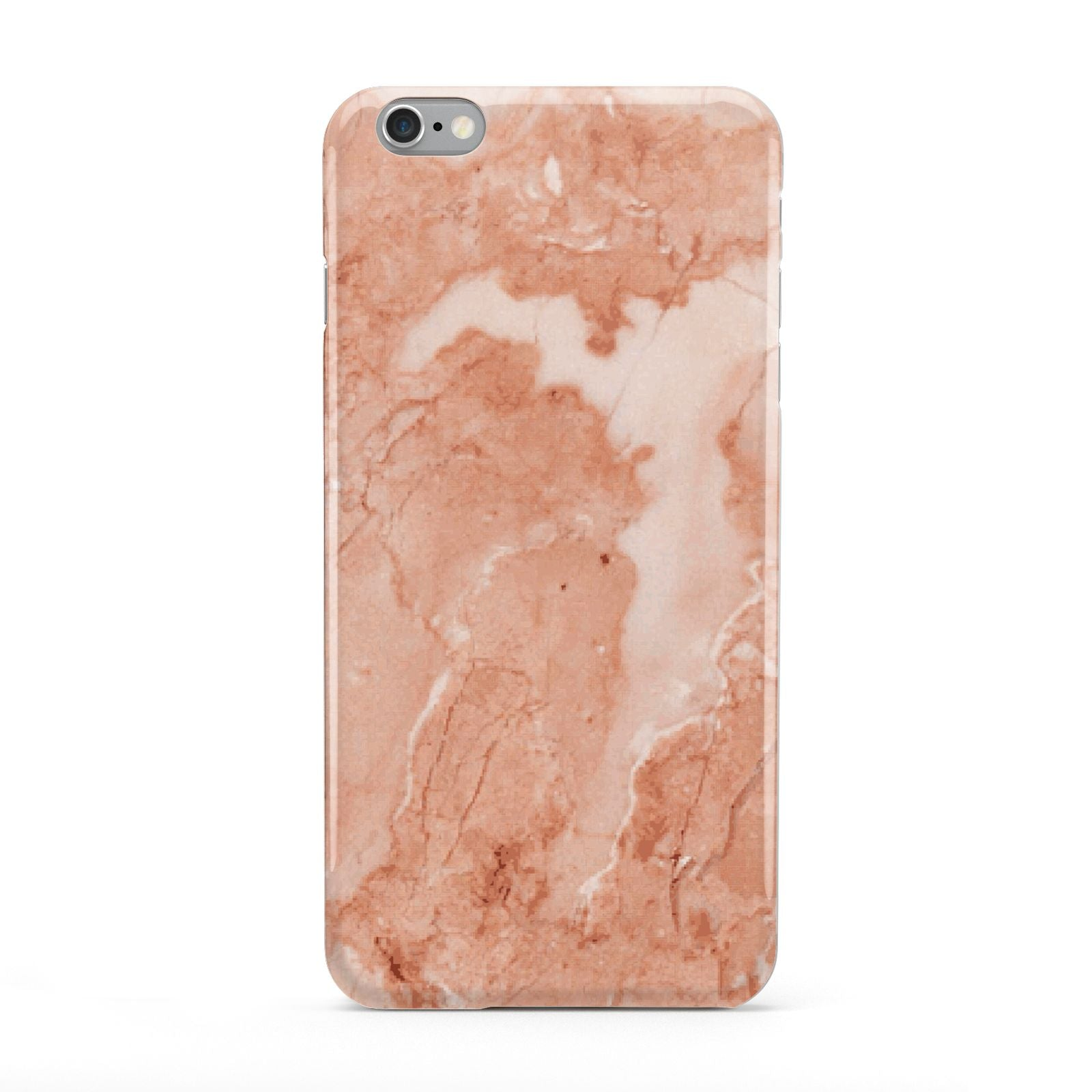 Faux Marble Red Apple iPhone 6 Plus Case