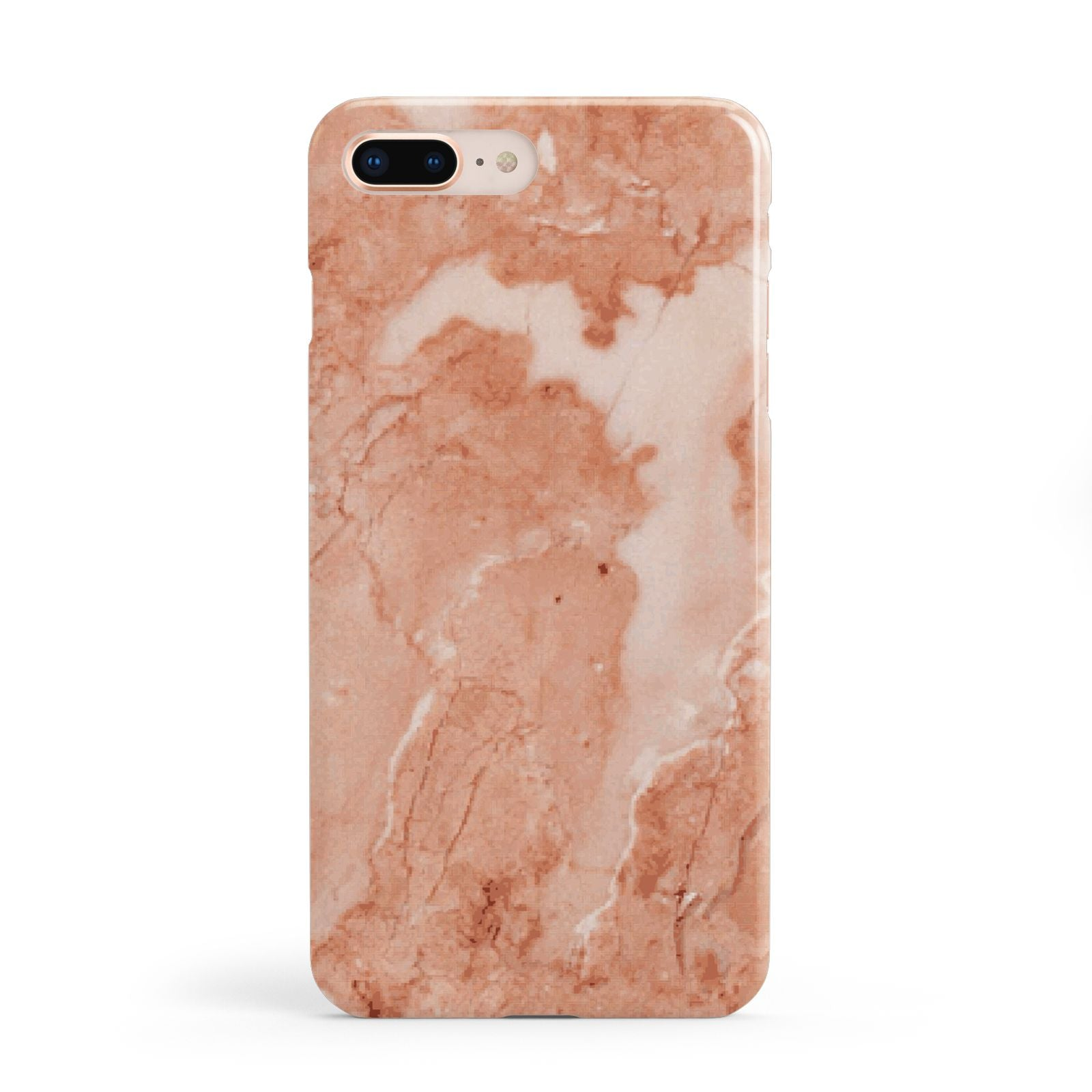 Faux Marble Red Apple iPhone 8 Plus Case