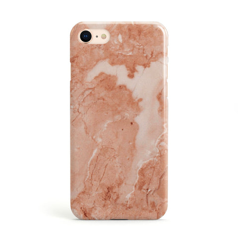 Faux Marble Red Apple iPhone Case