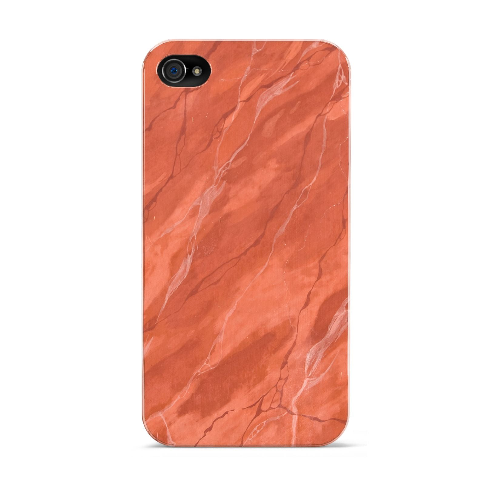 Faux Marble Red Orange Apple iPhone 4s Case