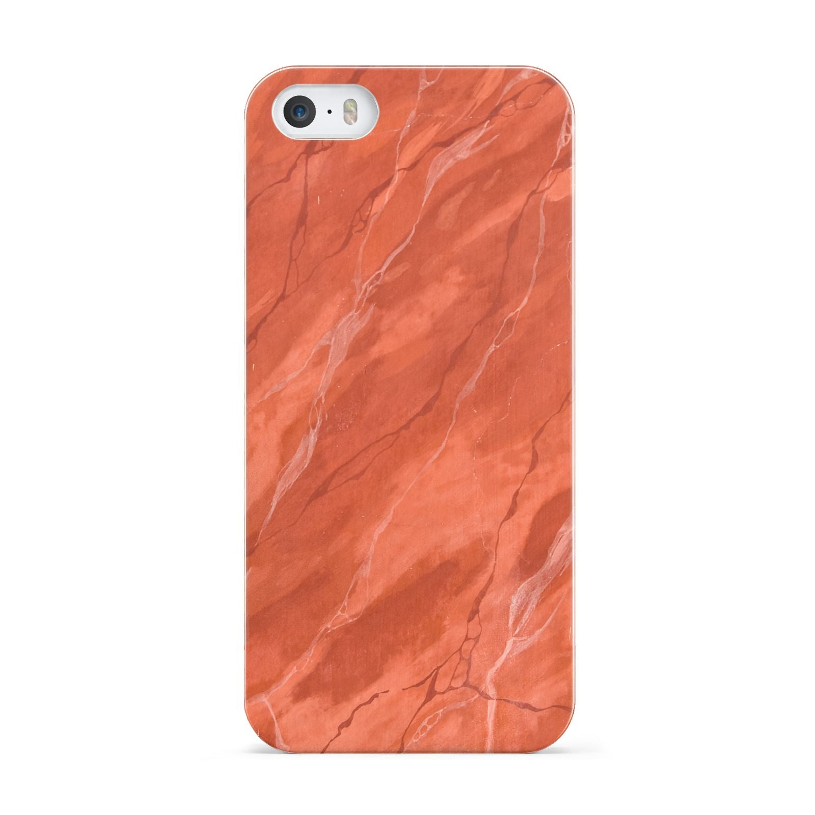 Faux Marble Red Orange Apple iPhone 5 Case