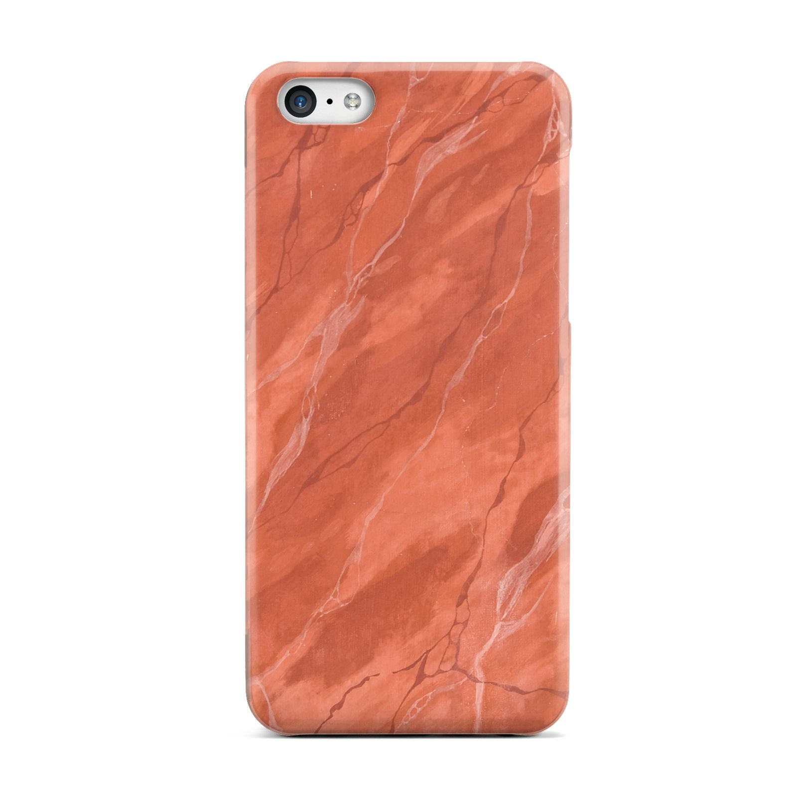 Faux Marble Red Orange Apple iPhone 5c Case