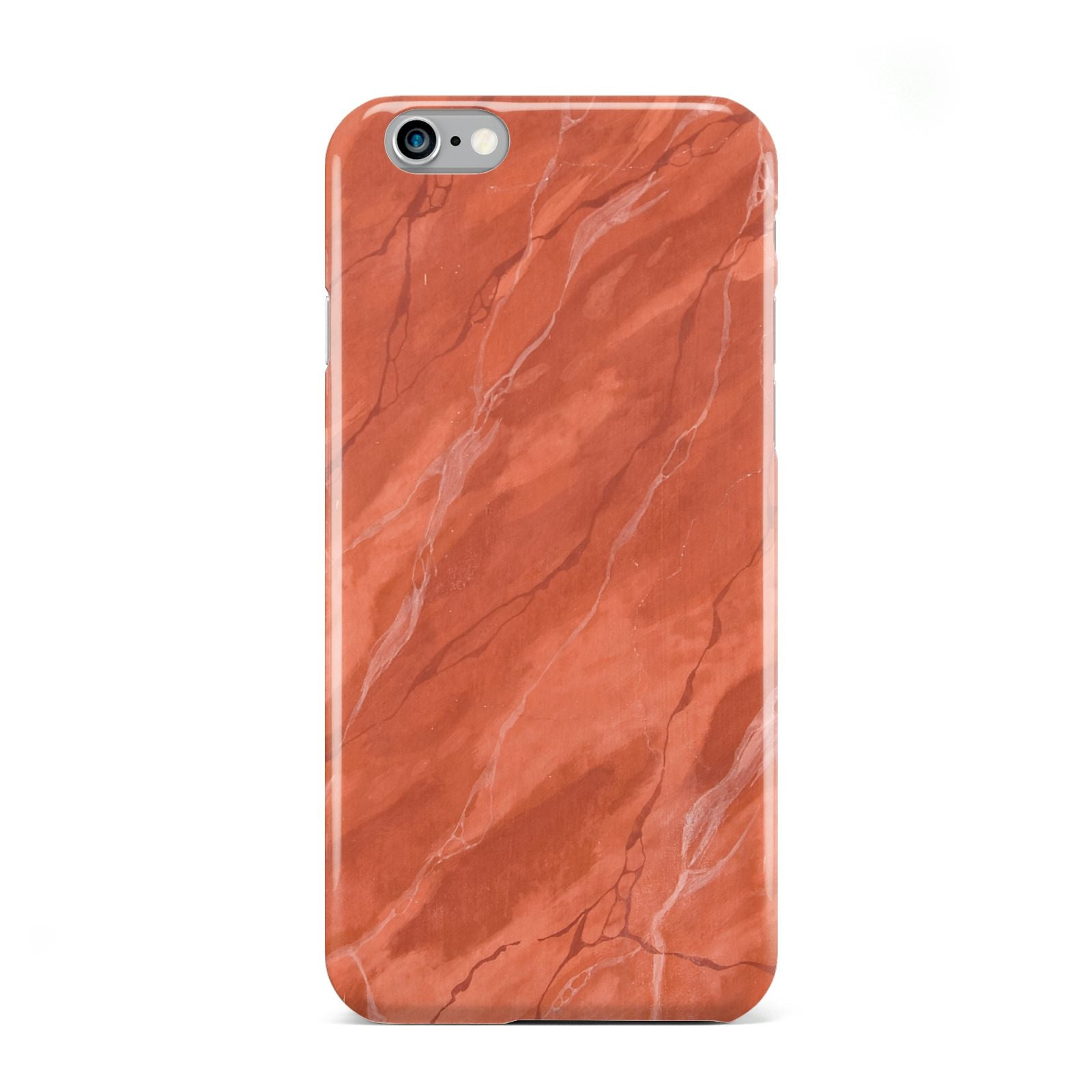 Faux Marble Red Orange Apple iPhone 6 Case