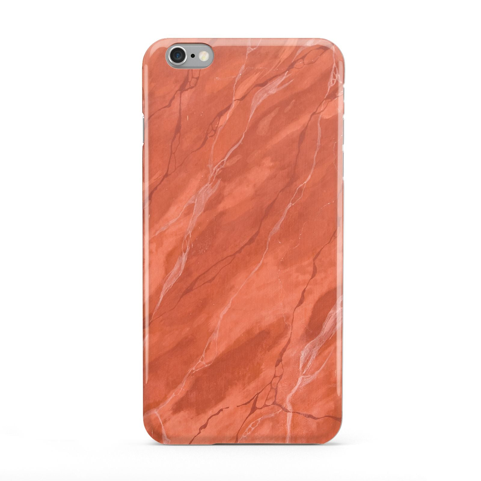 Faux Marble Red Orange Apple iPhone 6 Plus Case