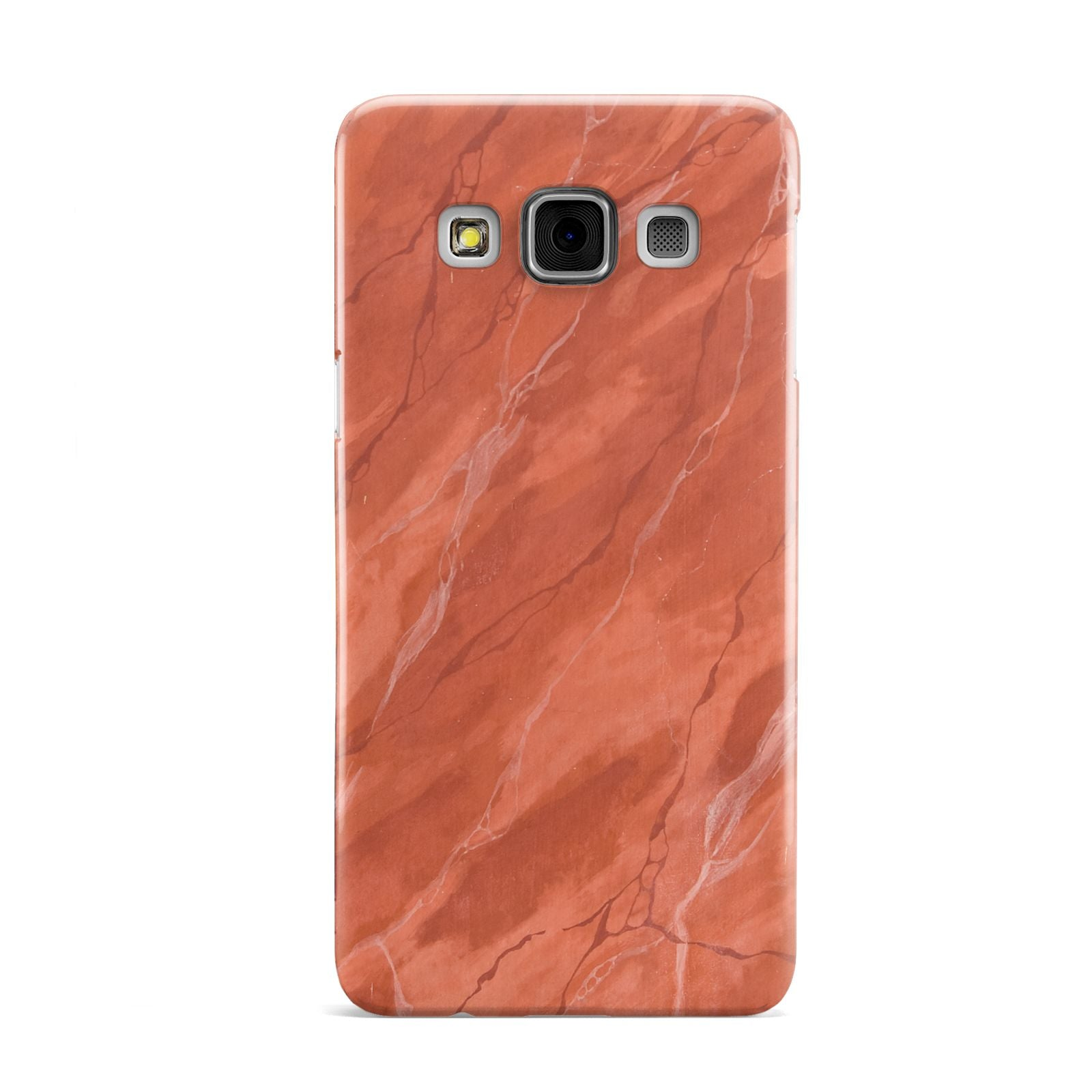 Faux Marble Red Orange Samsung Galaxy A3 Case