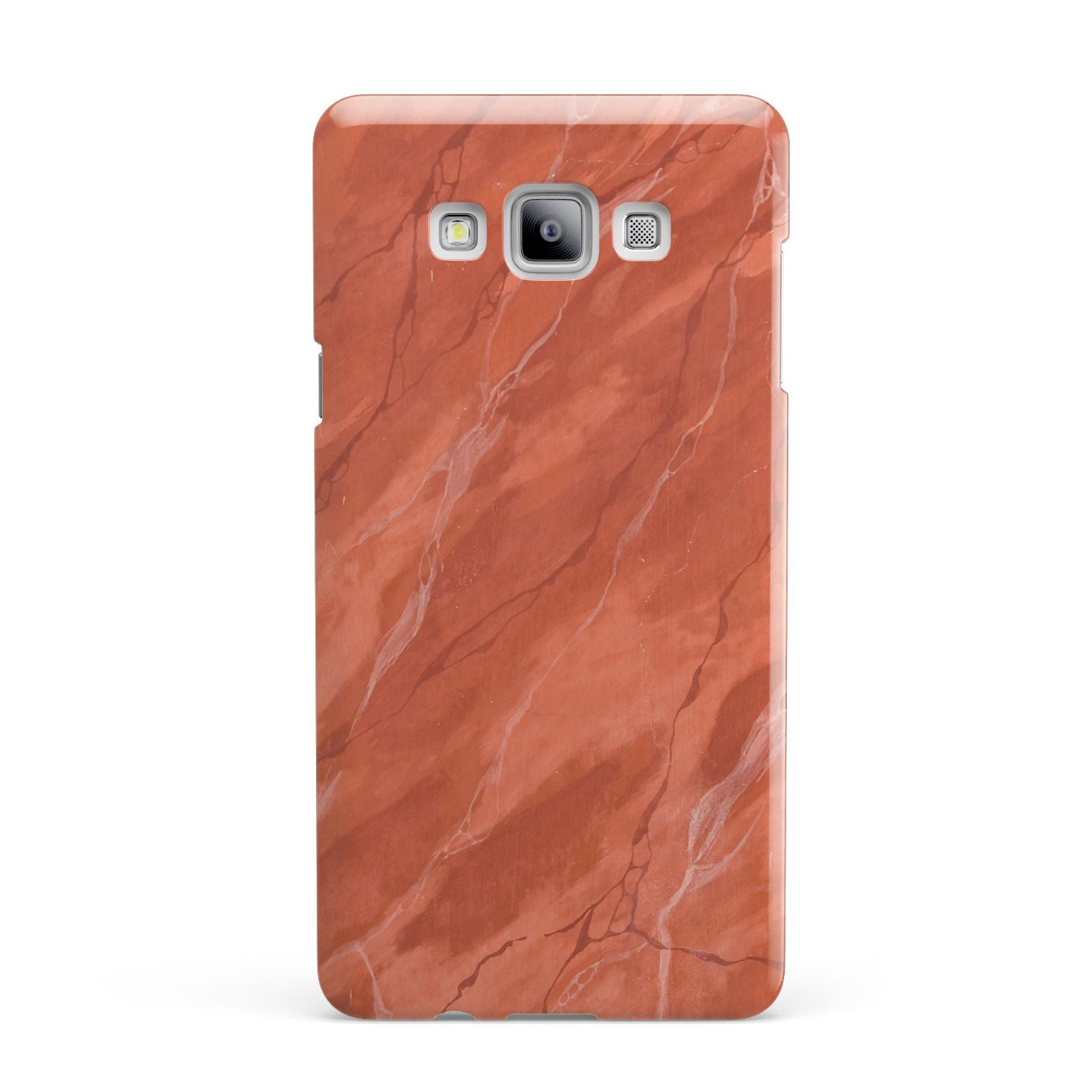 Faux Marble Red Orange Samsung Galaxy A7 2015 Case