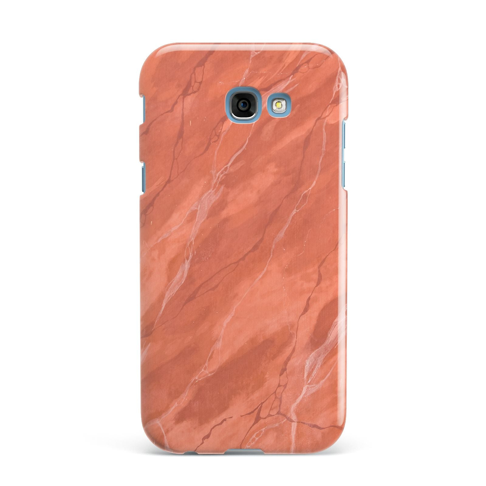 Faux Marble Red Orange Samsung Galaxy A7 2017 Case