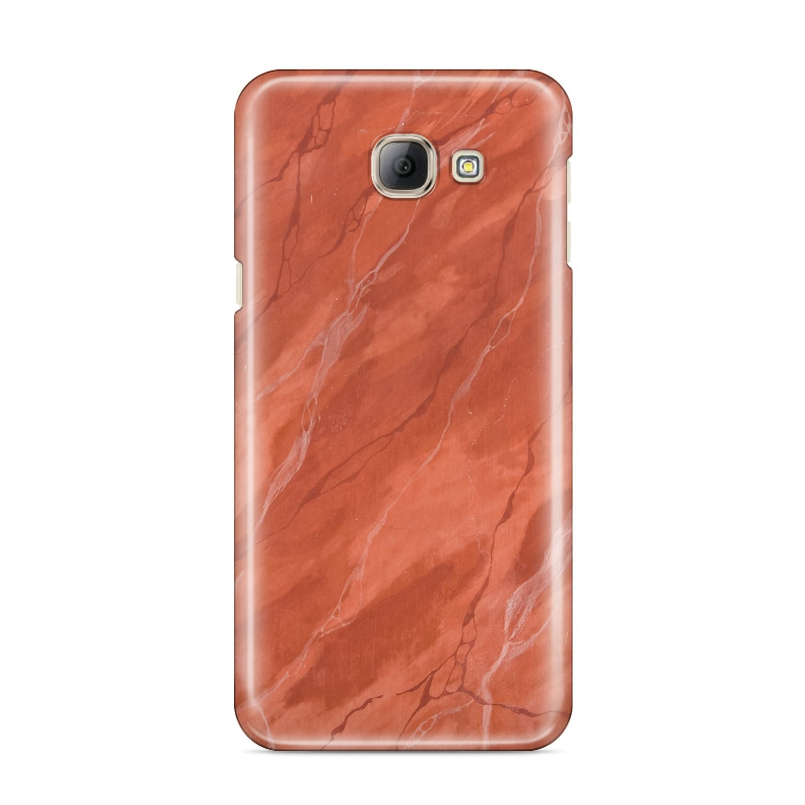 Faux Marble Red Orange Samsung Galaxy A8 2016 Case