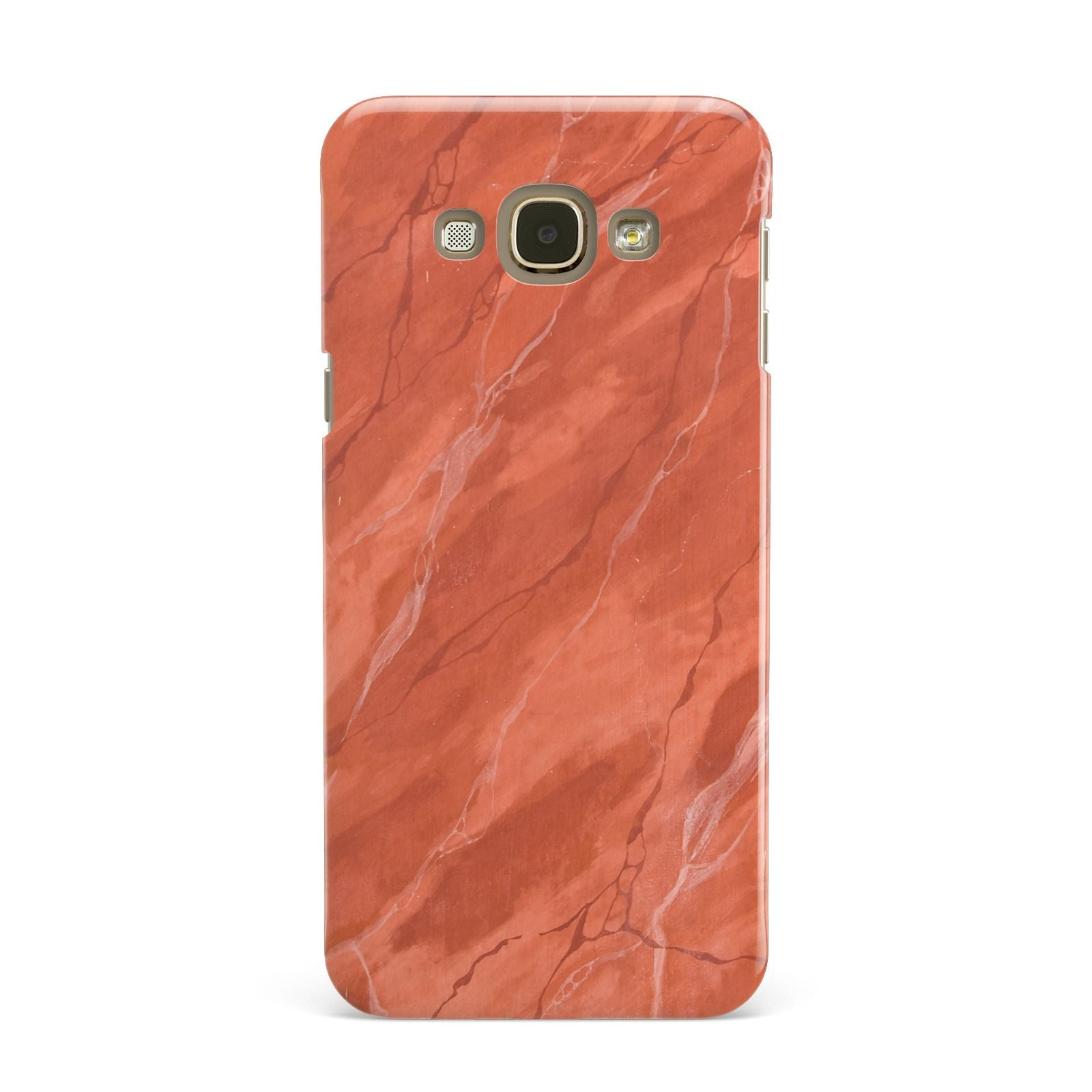 Faux Marble Red Orange Samsung Galaxy A8 Case