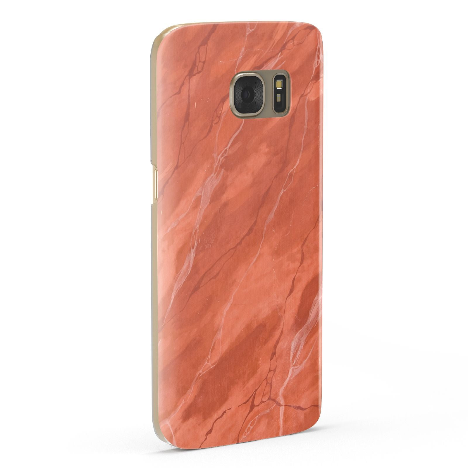 Faux Marble Red Orange Samsung Galaxy Case Fourty Five Degrees