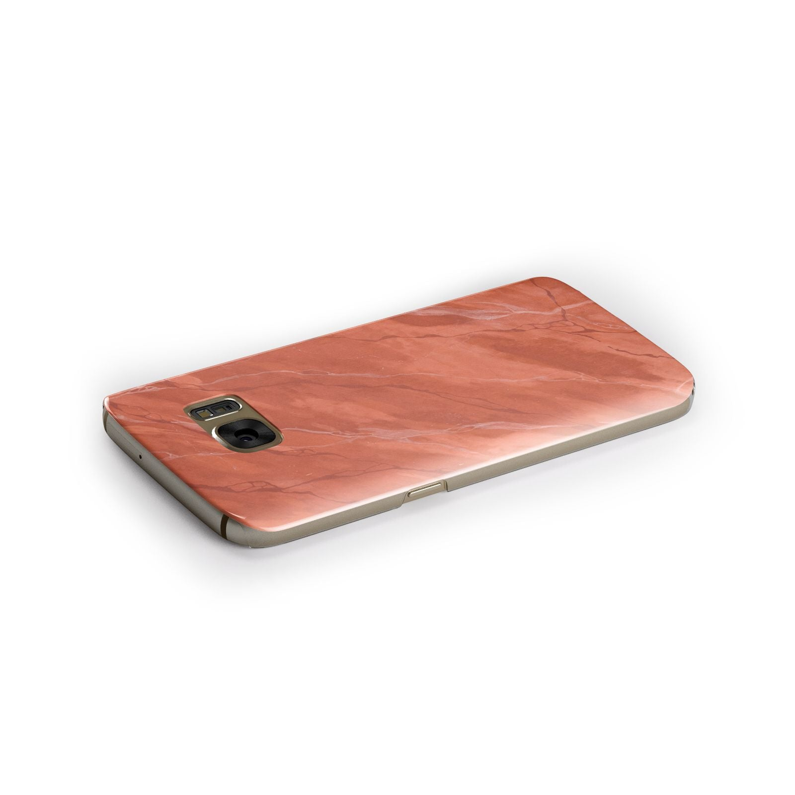 Faux Marble Red Orange Samsung Galaxy Case Side Close Up