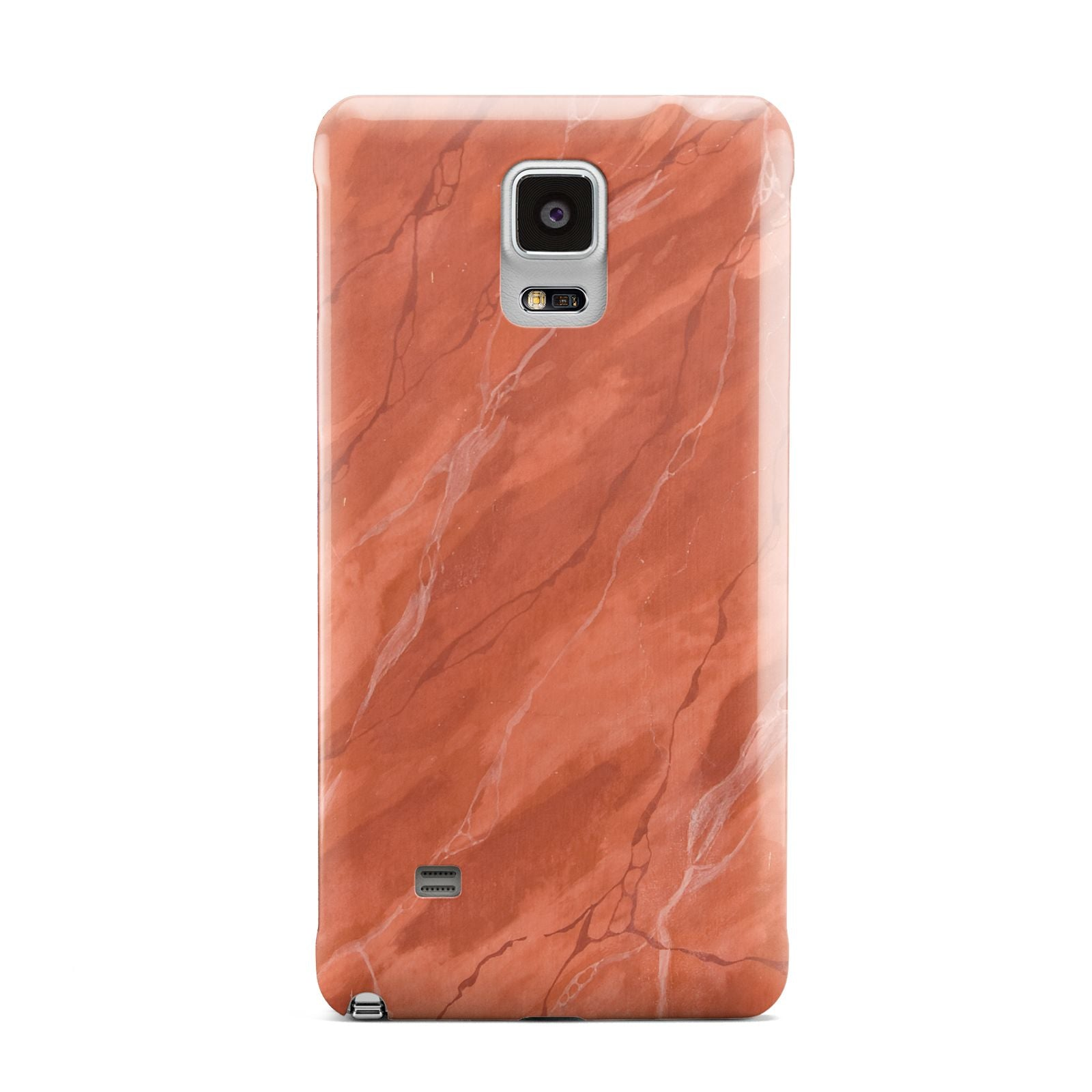 Faux Marble Red Orange Samsung Galaxy Note 4 Case