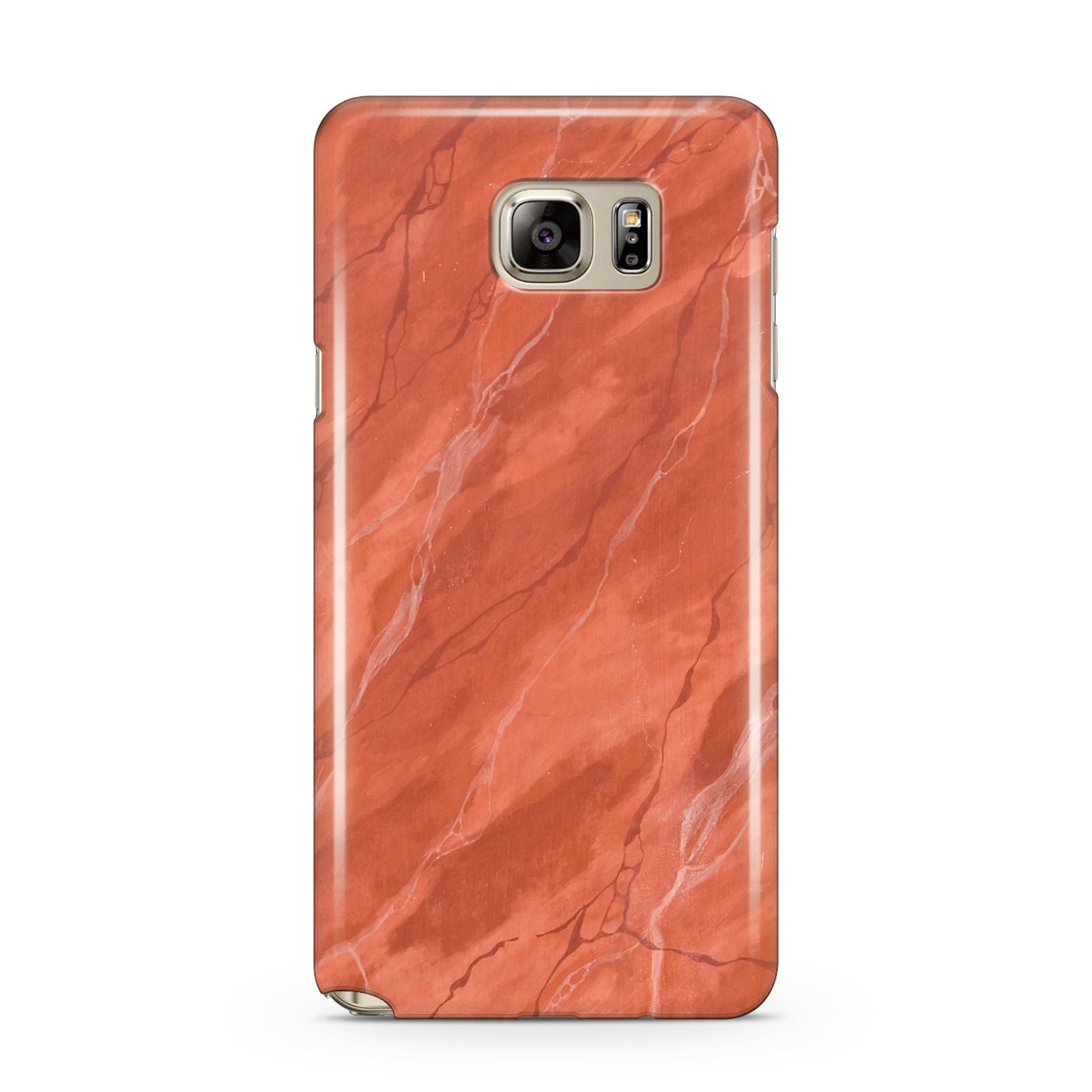 Faux Marble Red Orange Samsung Galaxy Note 5 Case