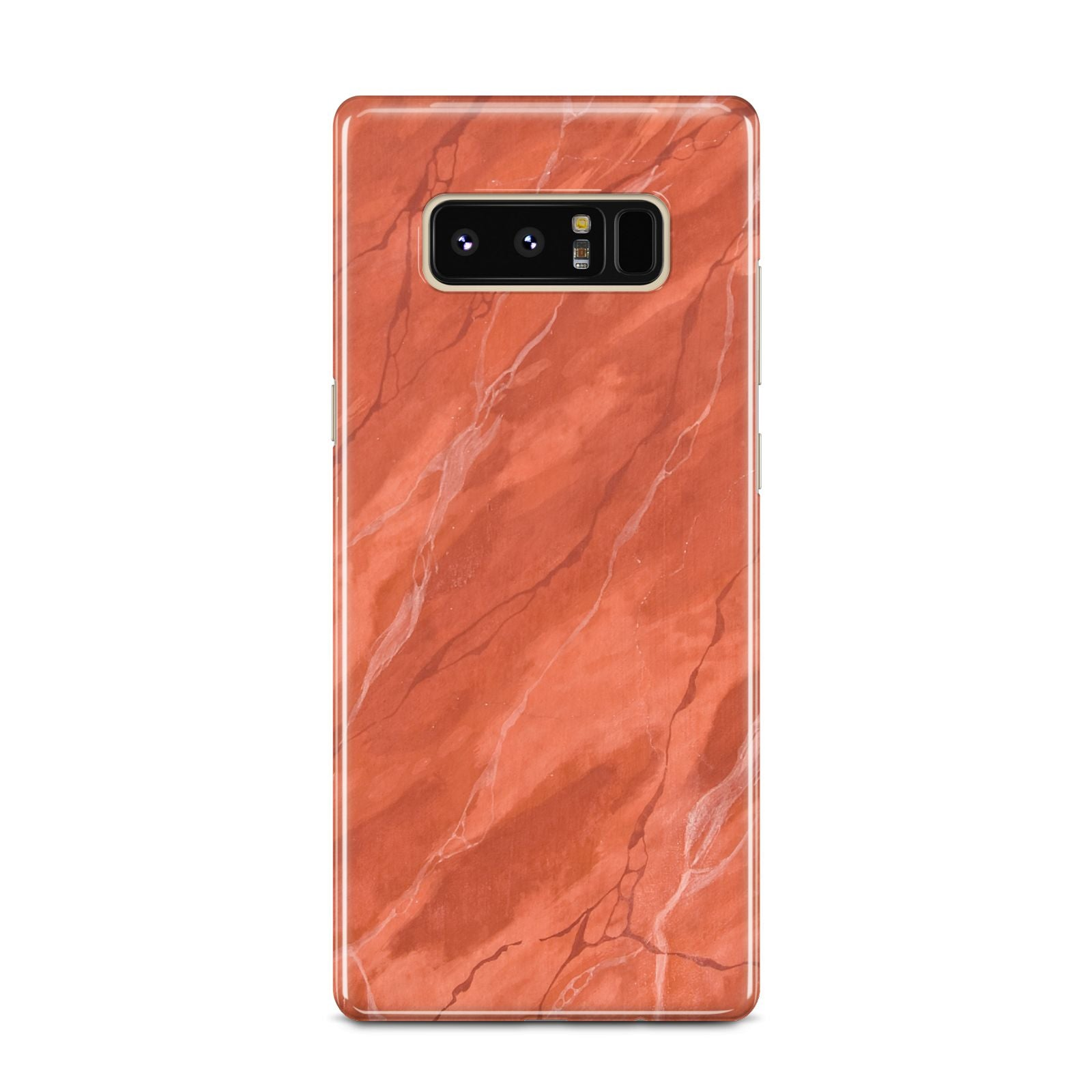 Faux Marble Red Orange Samsung Galaxy Note 8 Case