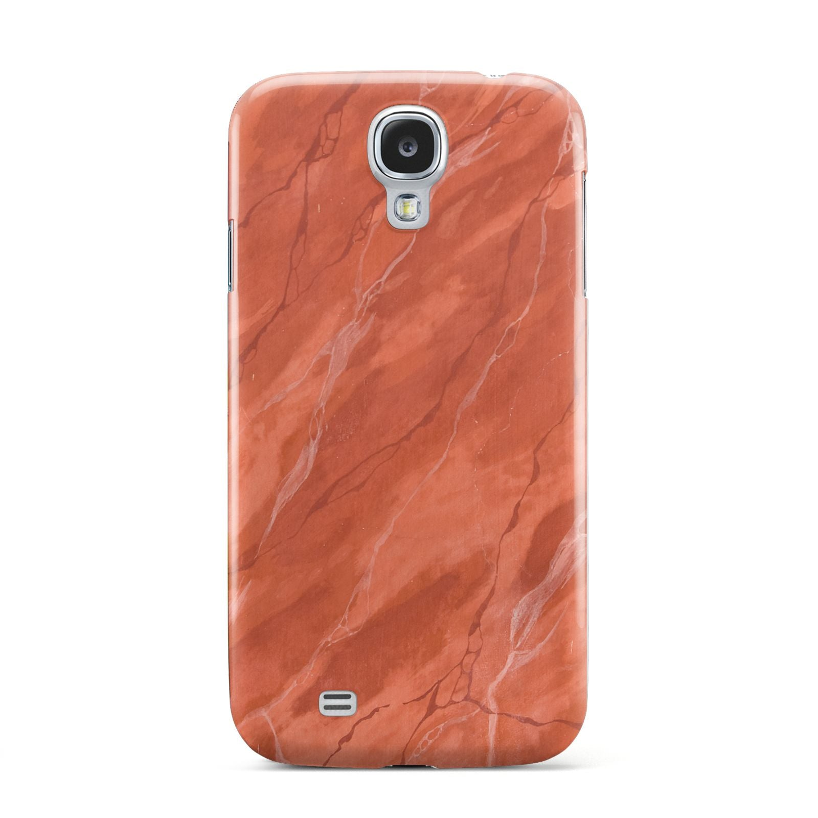 Faux Marble Red Orange Samsung Galaxy S4 Case