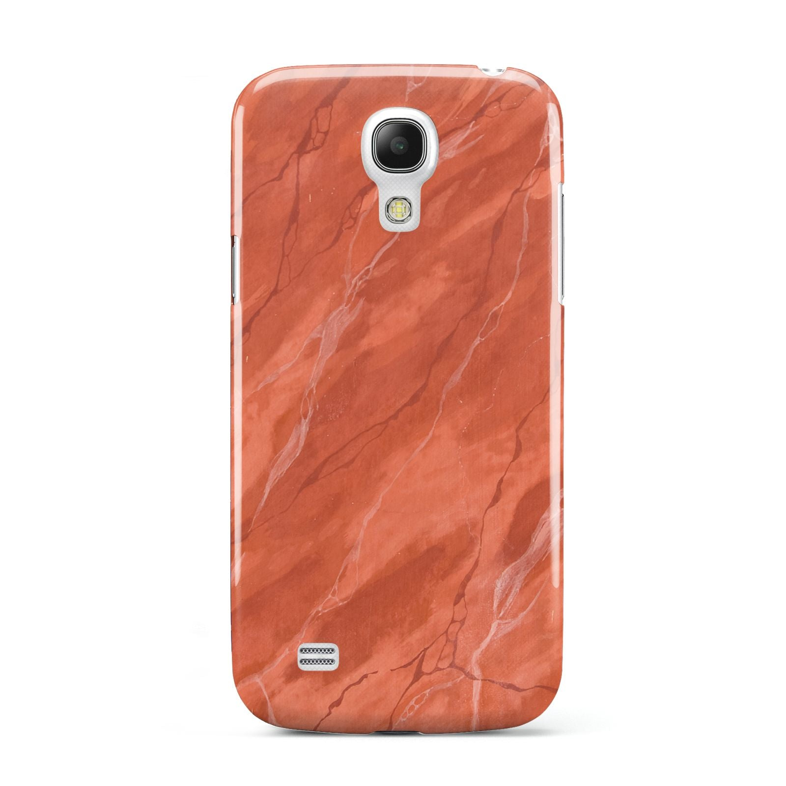Faux Marble Red Orange Samsung Galaxy S4 Mini Case