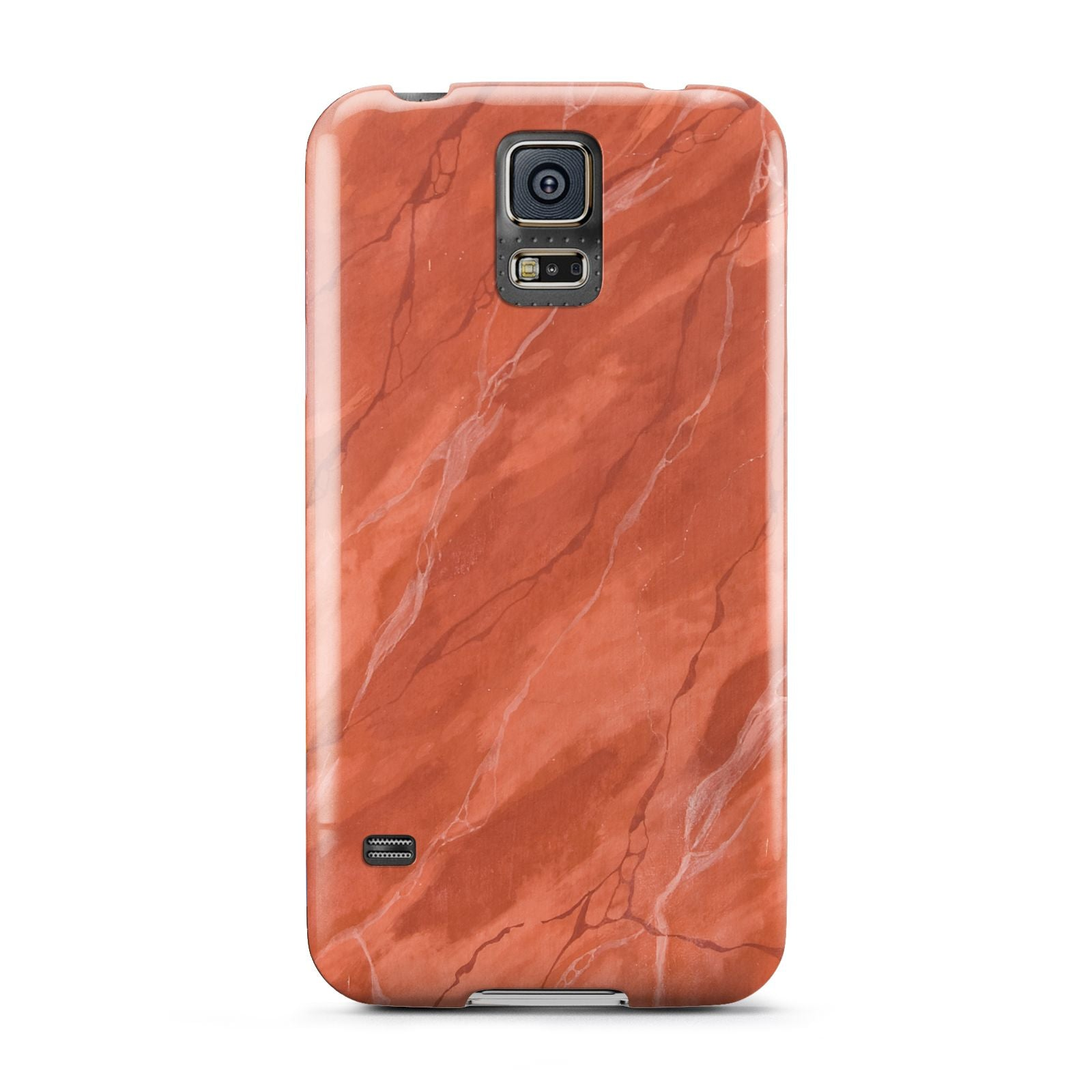 Faux Marble Red Orange Samsung Galaxy S5 Case