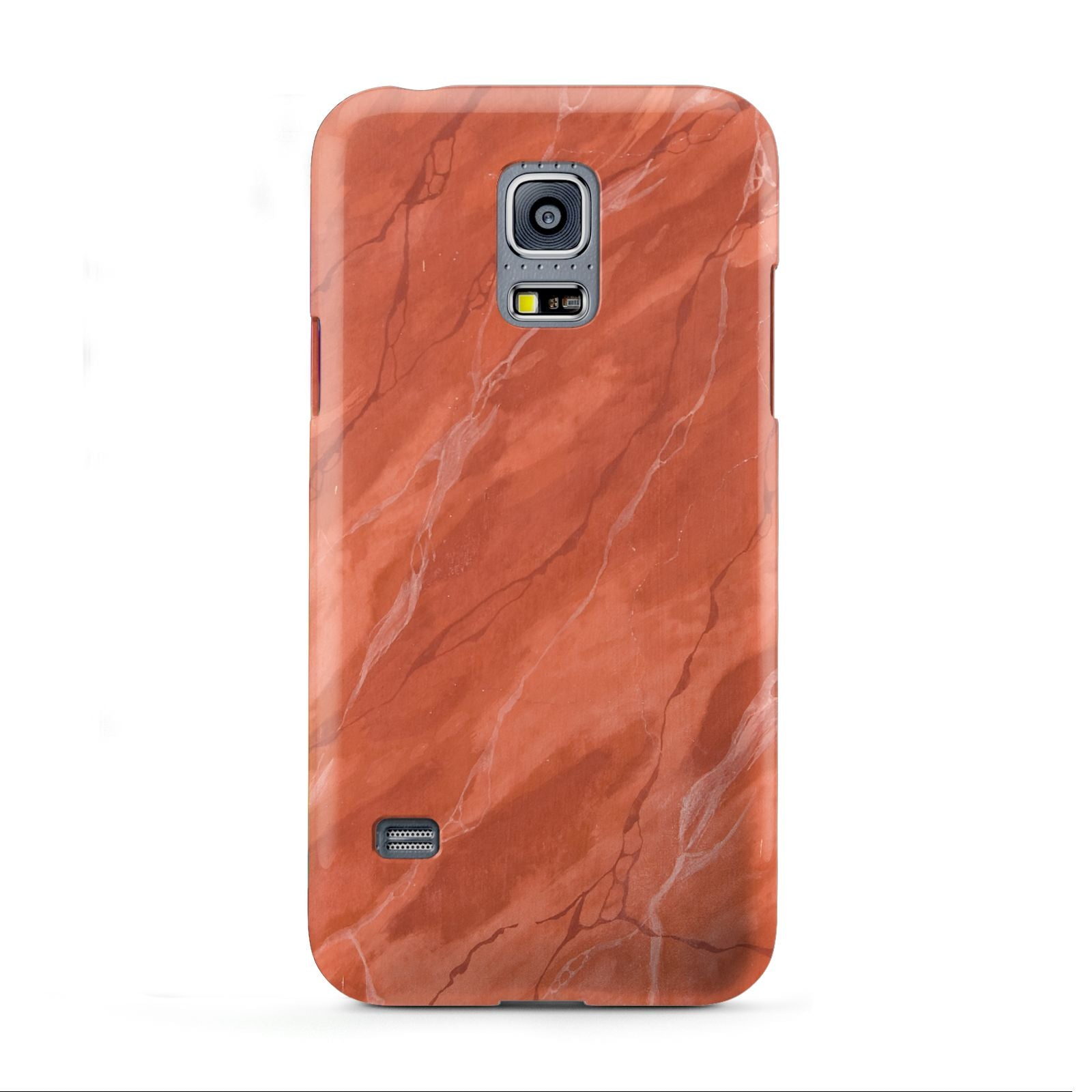 Faux Marble Red Orange Samsung Galaxy S5 Mini Case