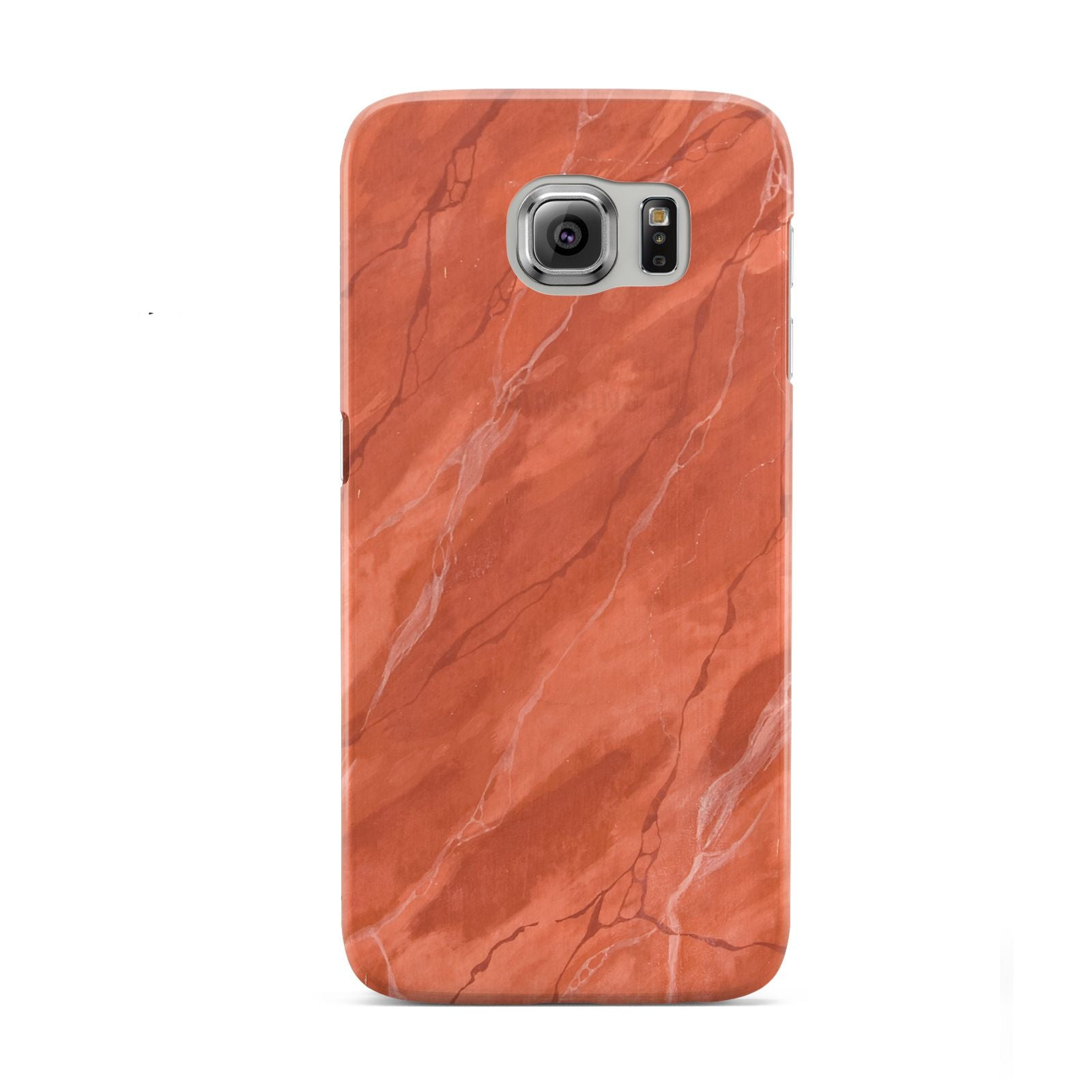 Faux Marble Red Orange Samsung Galaxy S6 Case