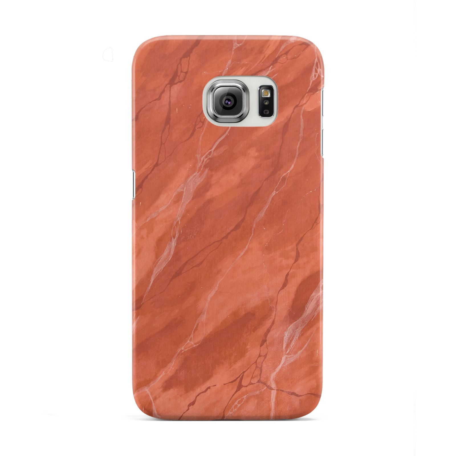 Faux Marble Red Orange Samsung Galaxy S6 Edge Case