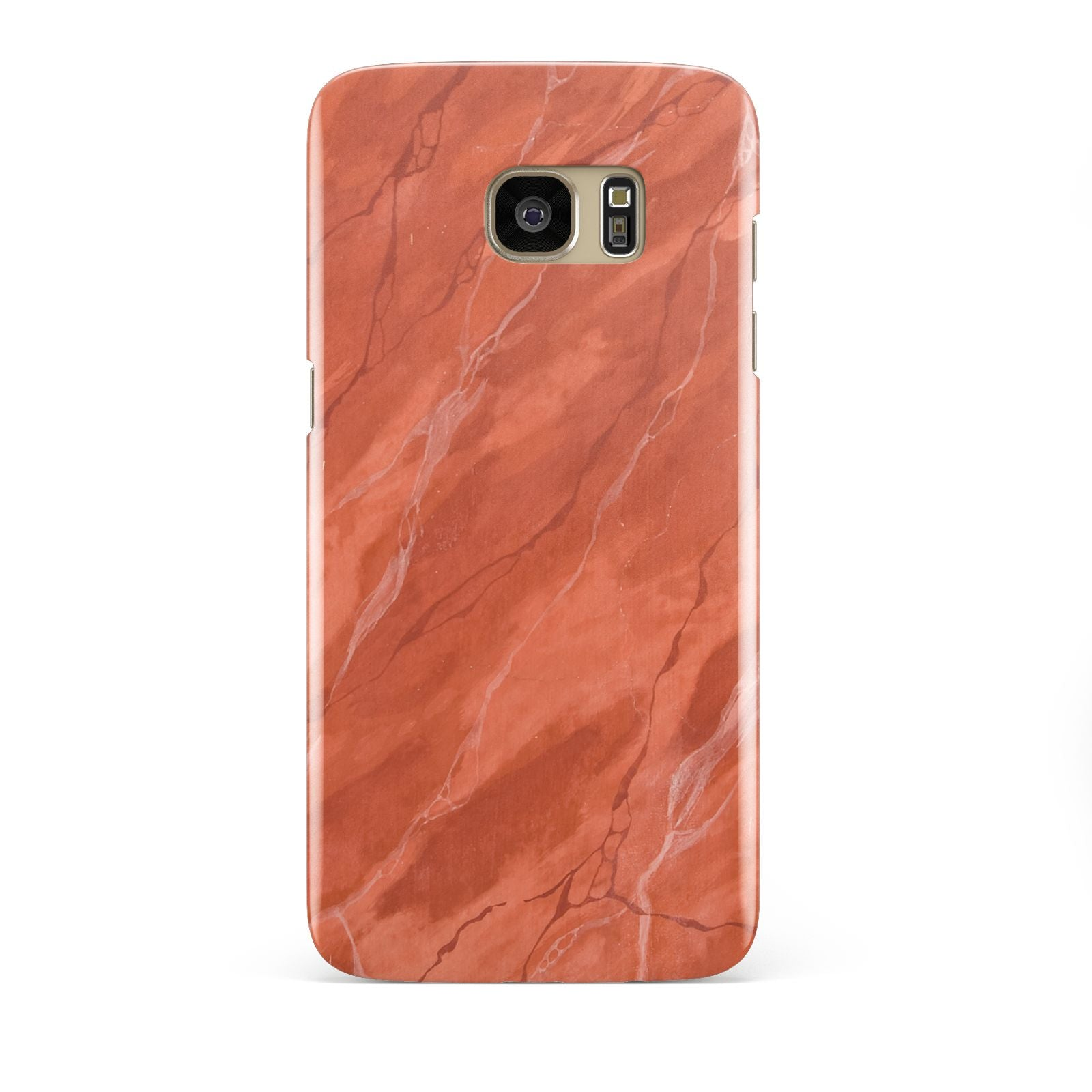 Faux Marble Red Orange Samsung Galaxy S7 Edge Case
