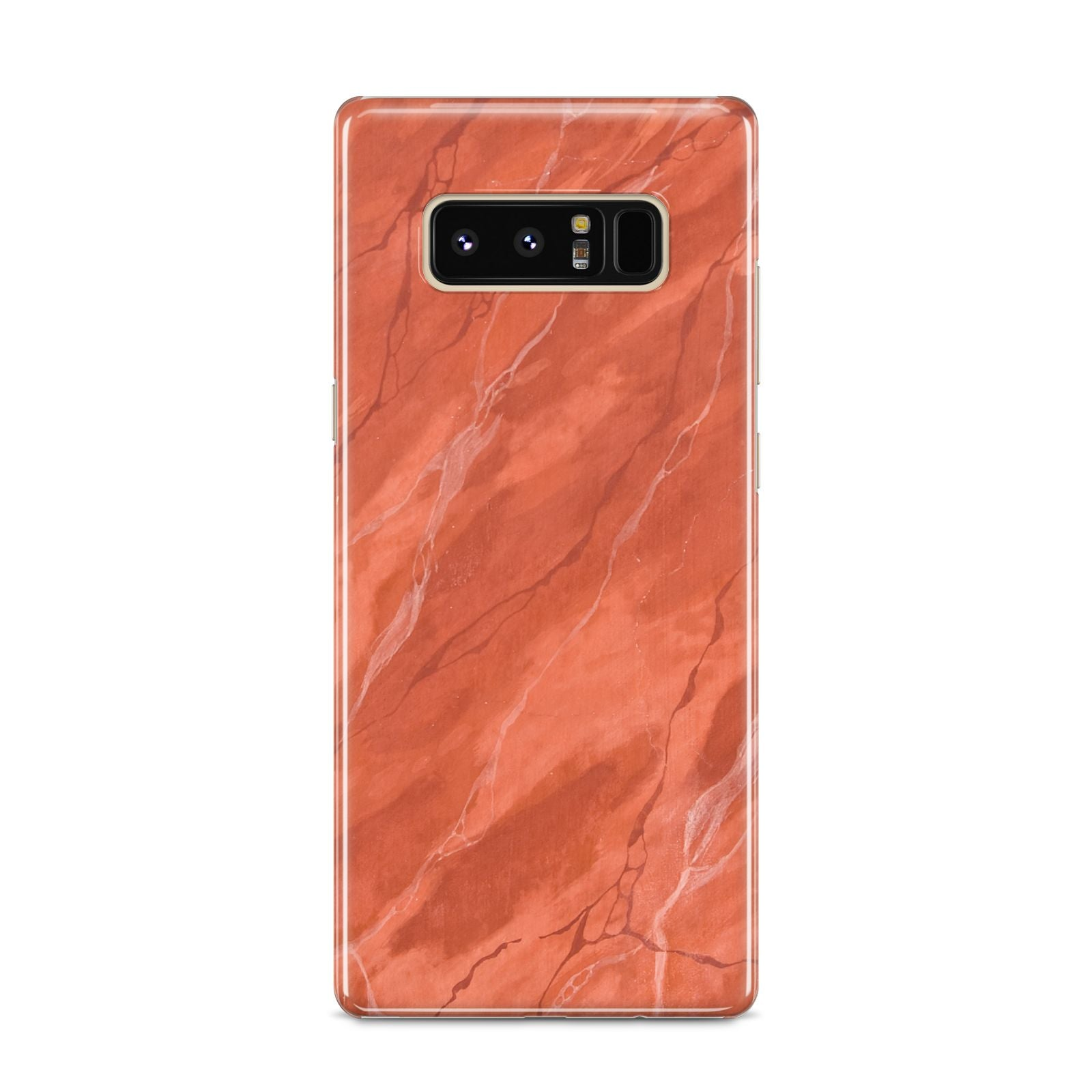 Faux Marble Red Orange Samsung Galaxy S8 Case