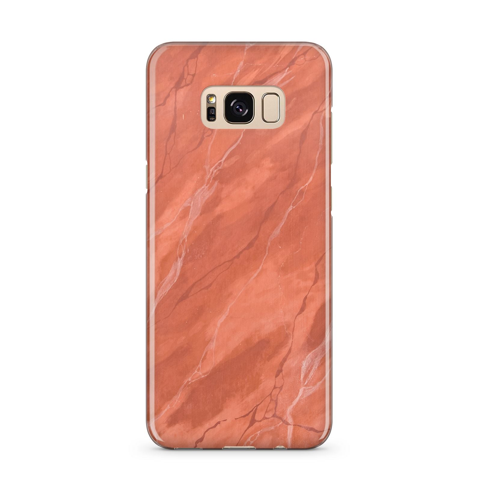 Faux Marble Red Orange Samsung Galaxy S8 Plus Case