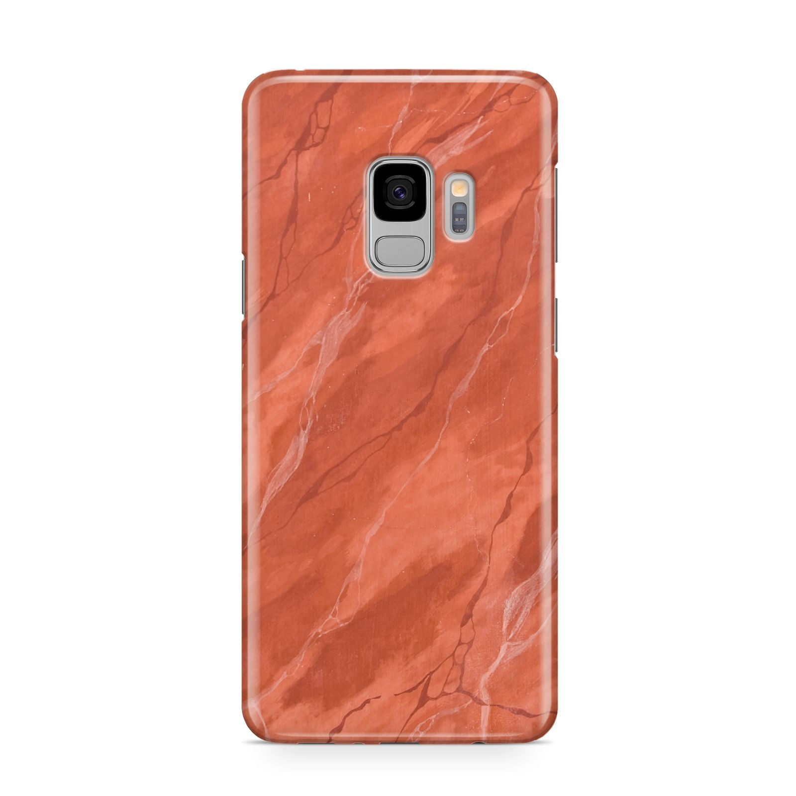 Faux Marble Red Orange Samsung Galaxy S9 Case