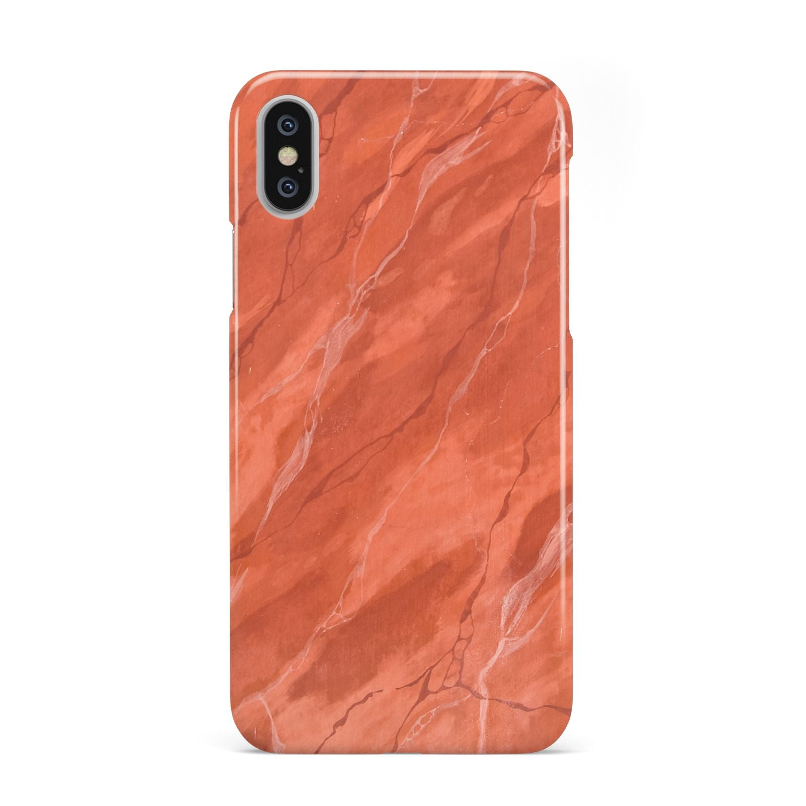 buy online 6fc8d 9aa70 Faux Marble Red Orange Apple iPhone Case
