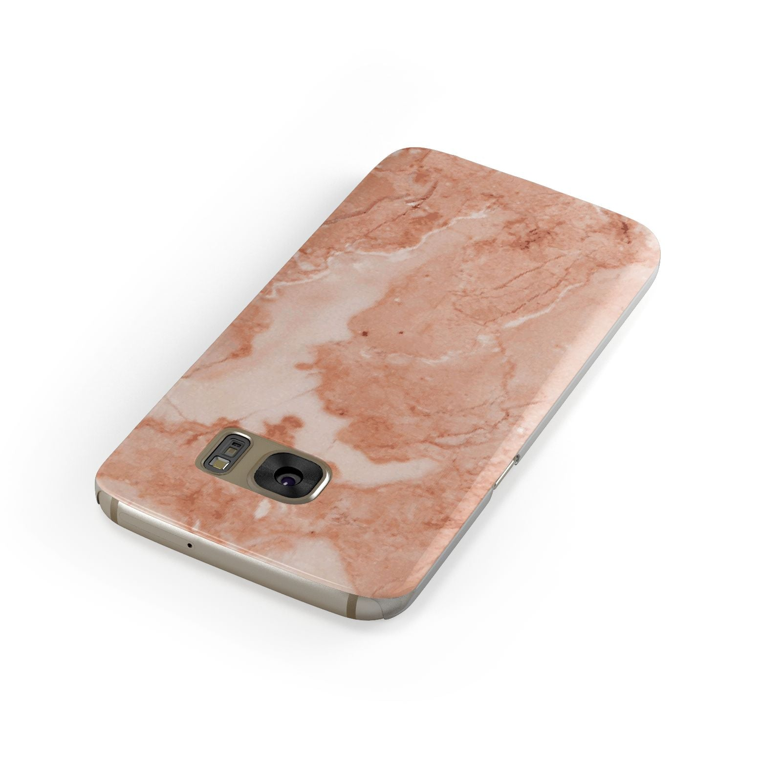 Faux Marble Red Samsung Galaxy Case Front Close Up