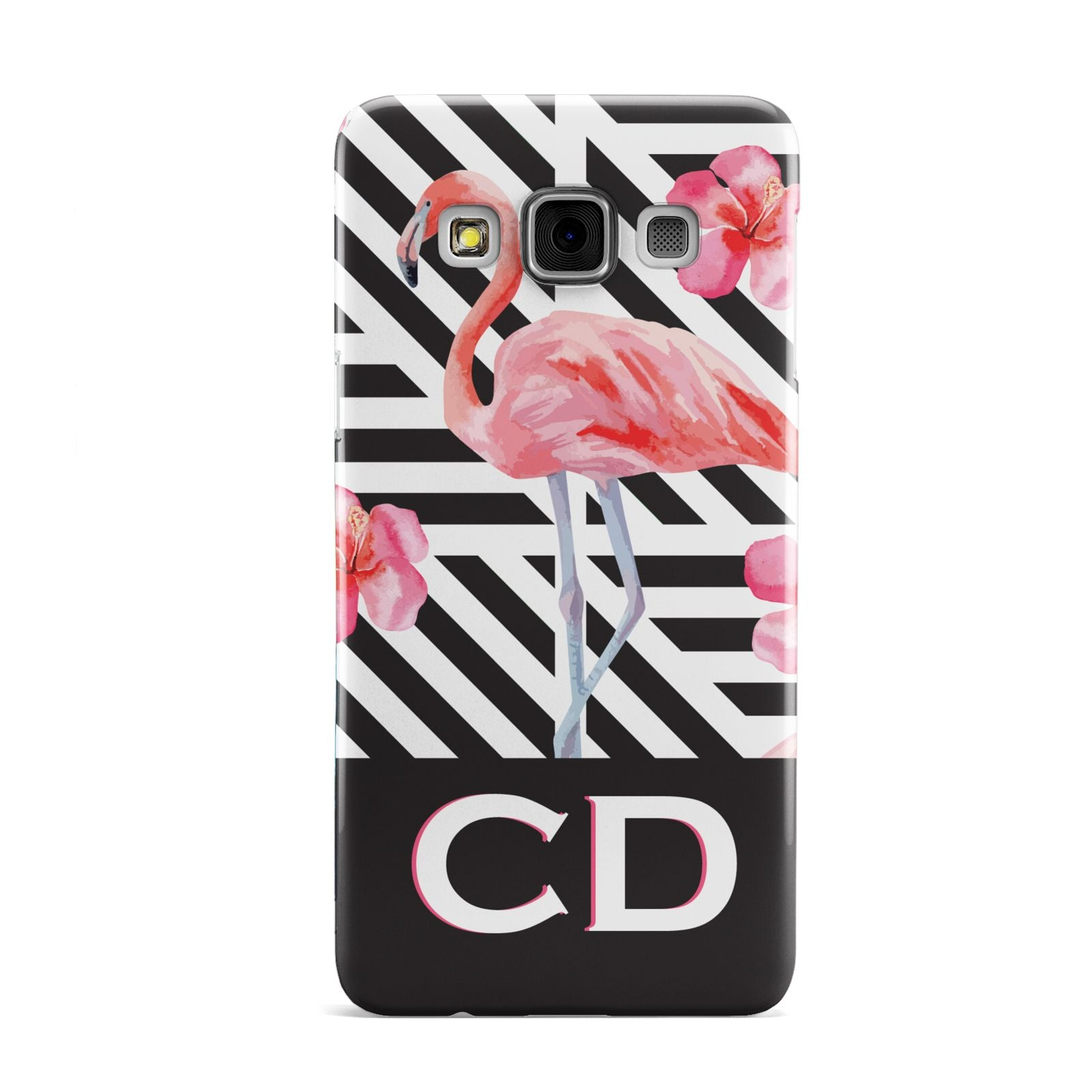 Flamingo Black Geometric Samsung Galaxy A3 Case