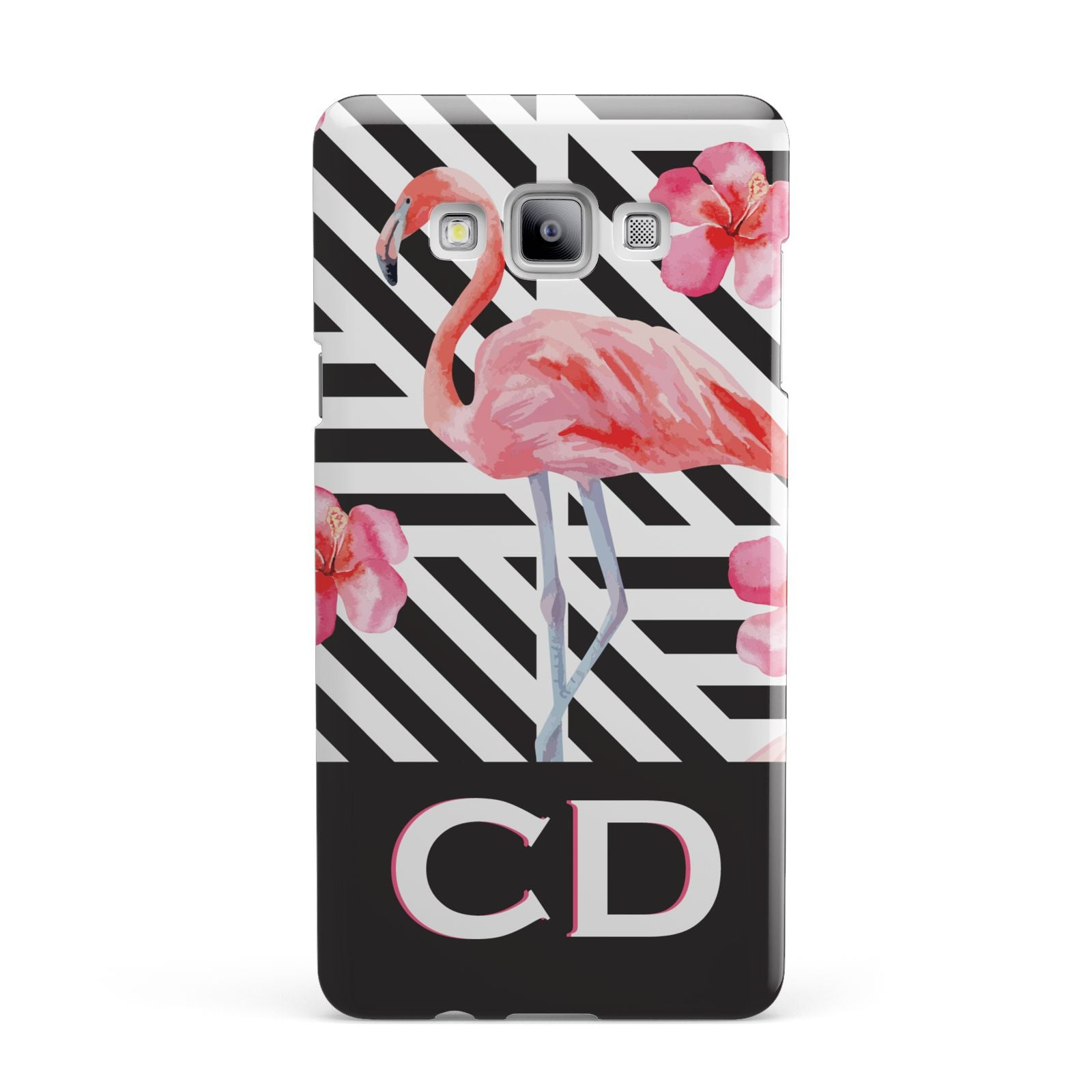 Flamingo Black Geometric Samsung Galaxy A7 2015 Case