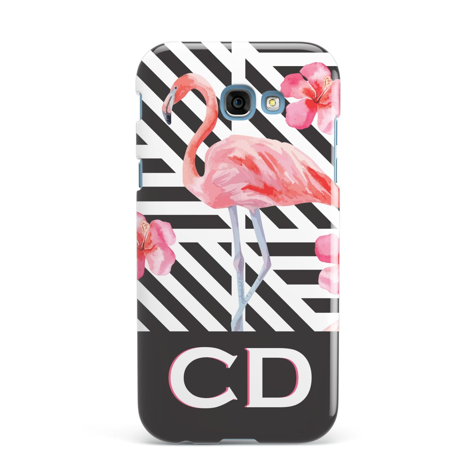 Flamingo Black Geometric Samsung Galaxy A7 2017 Case