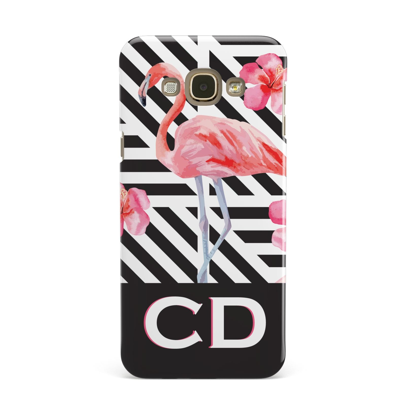 Flamingo Black Geometric Samsung Galaxy A8 Case