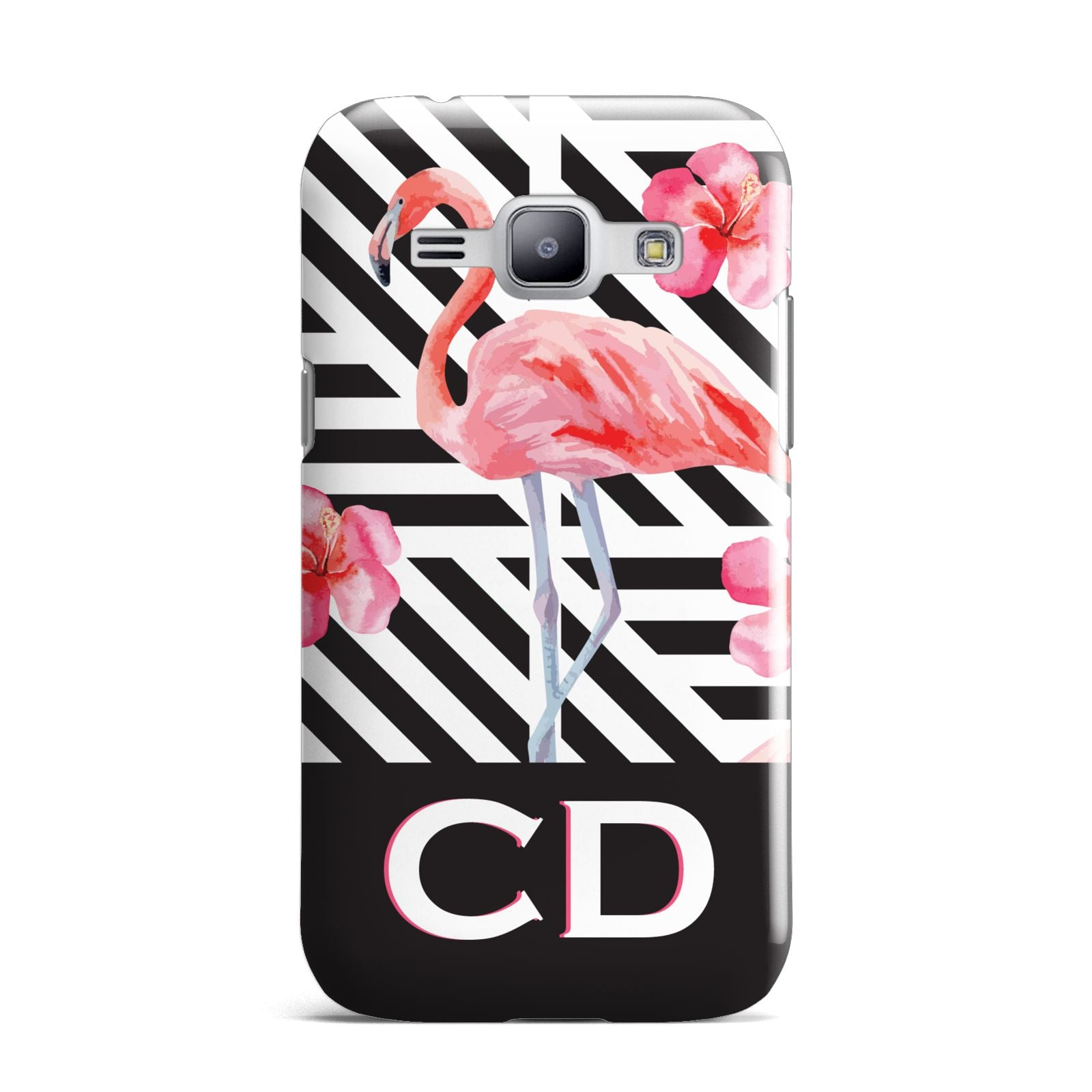 Flamingo Black Geometric Samsung Galaxy J1 2015 Case