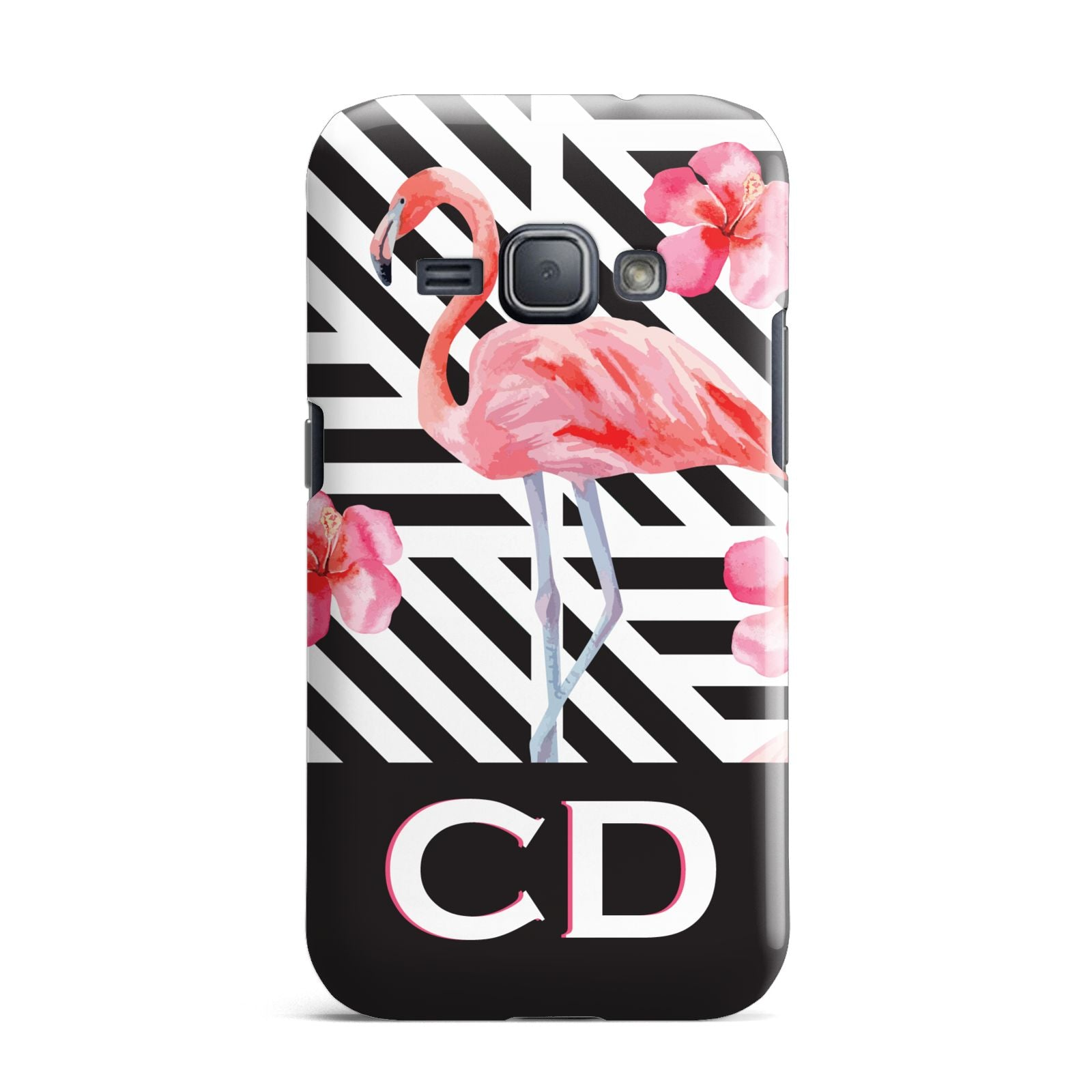 Flamingo Black Geometric Samsung Galaxy J1 2016 Case