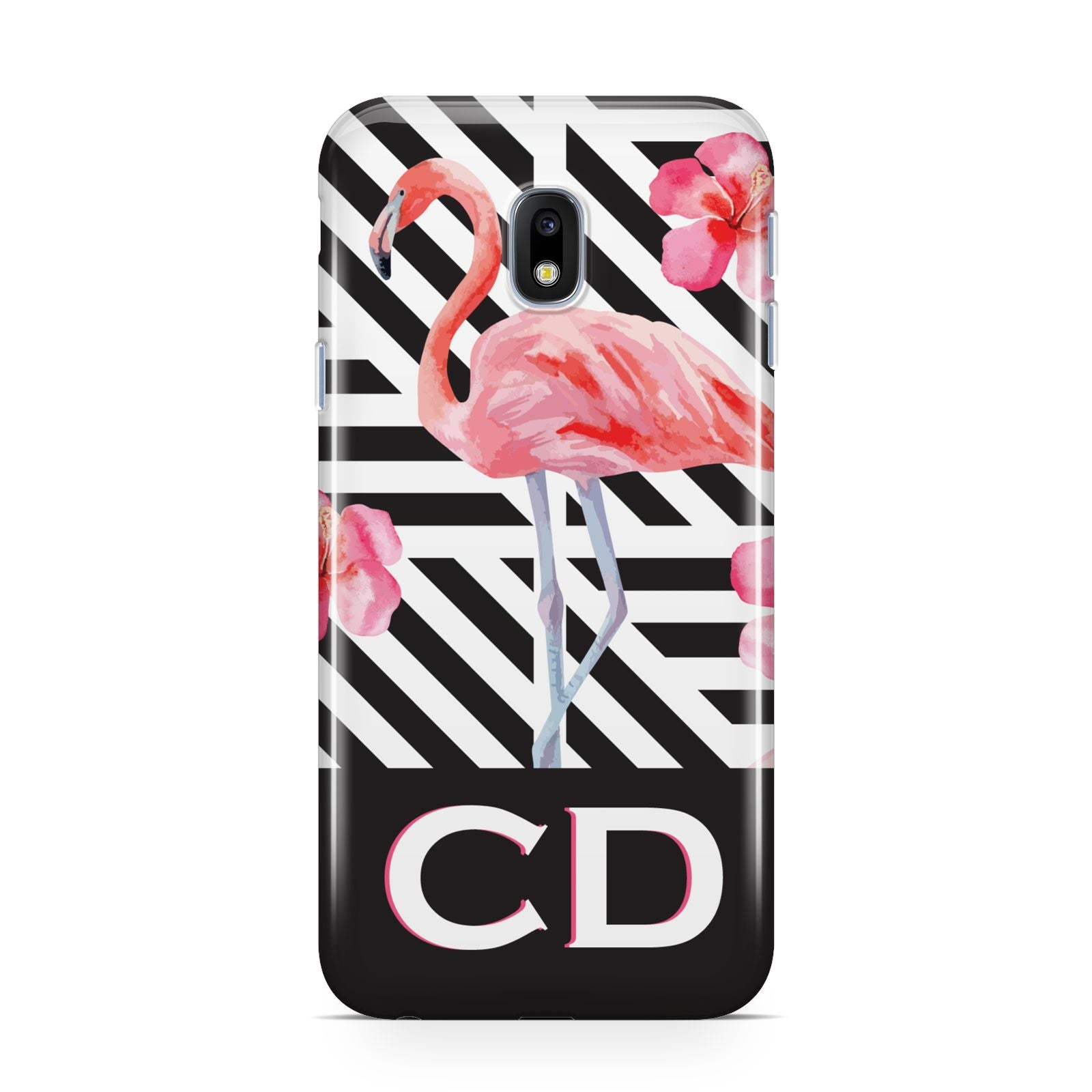Flamingo Black Geometric Samsung Galaxy J3 2017 Case