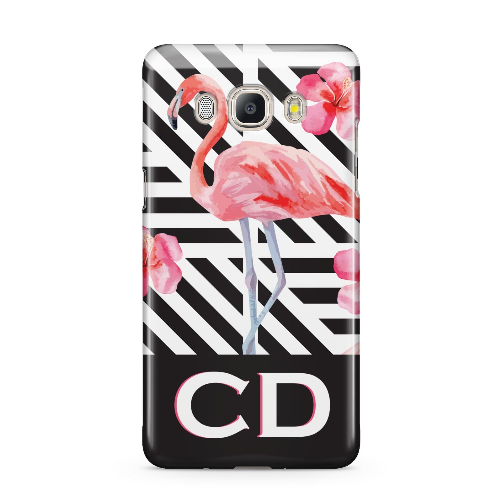 Flamingo Black Geometric Samsung Galaxy J5 2016 Case