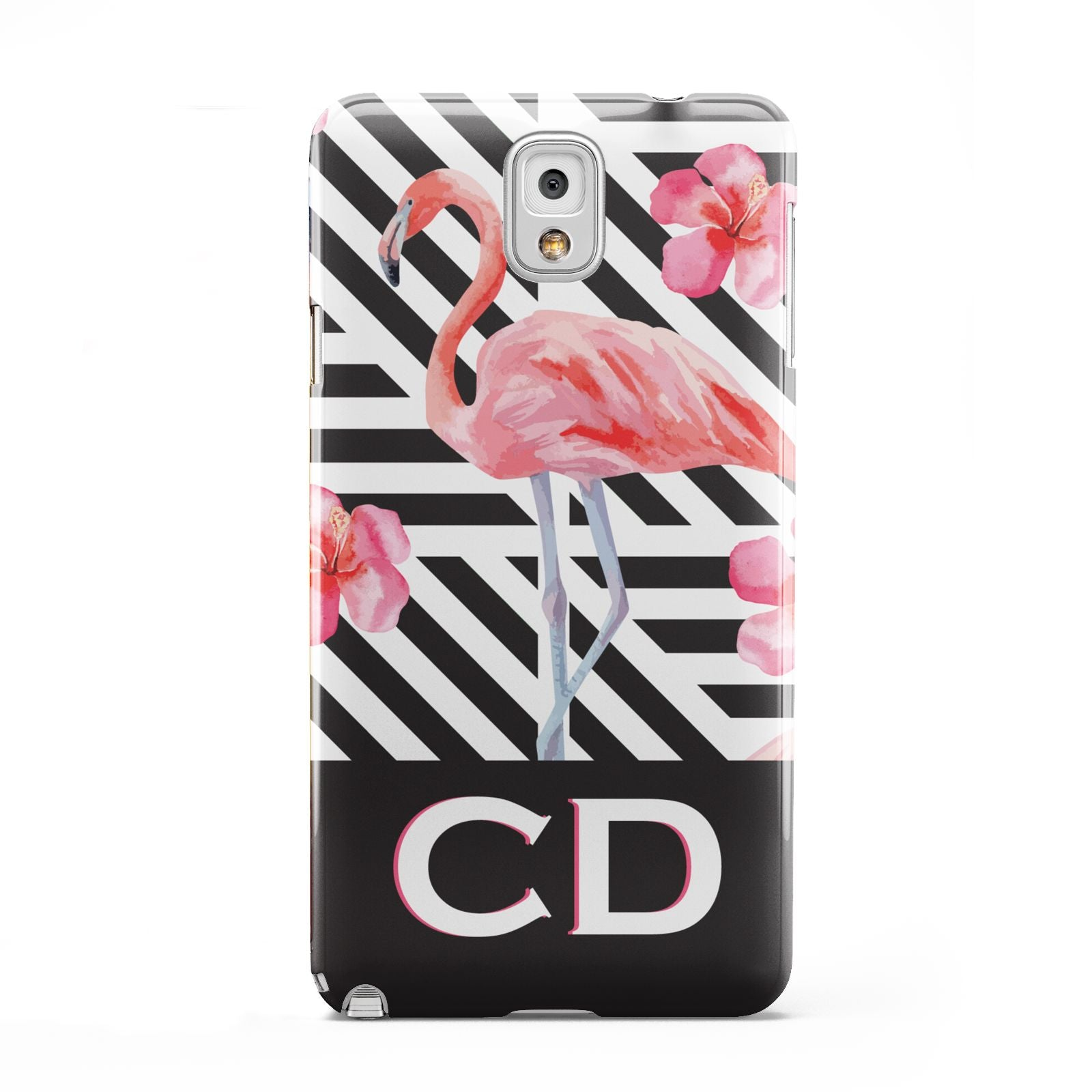 Flamingo Black Geometric Samsung Galaxy Note 3 Case
