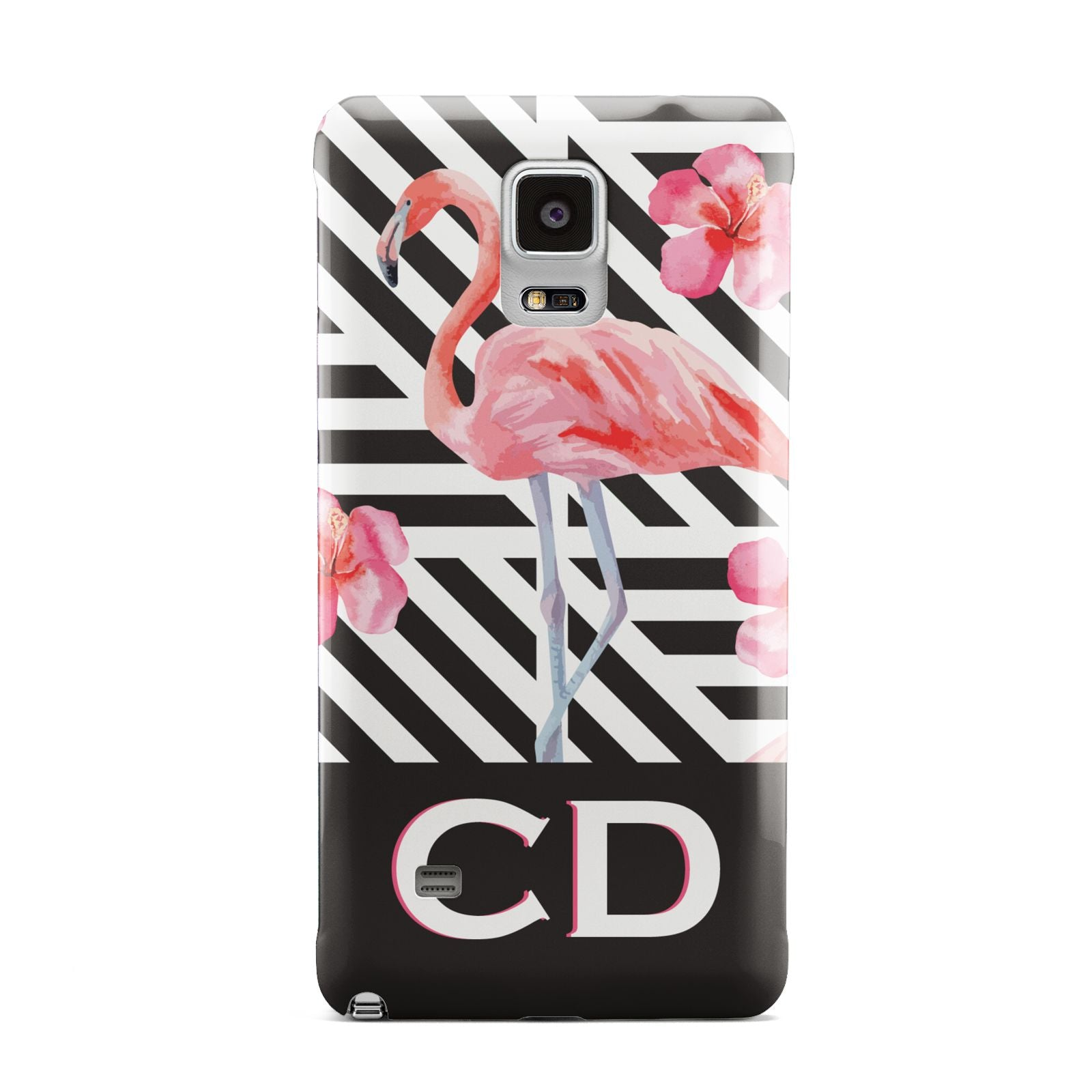 Flamingo Black Geometric Samsung Galaxy Note 4 Case