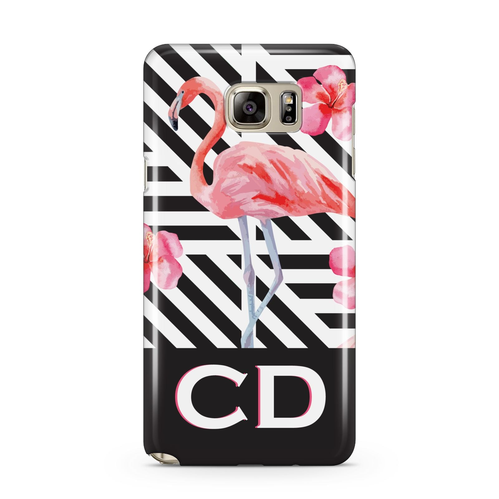 Flamingo Black Geometric Samsung Galaxy Note 5 Case