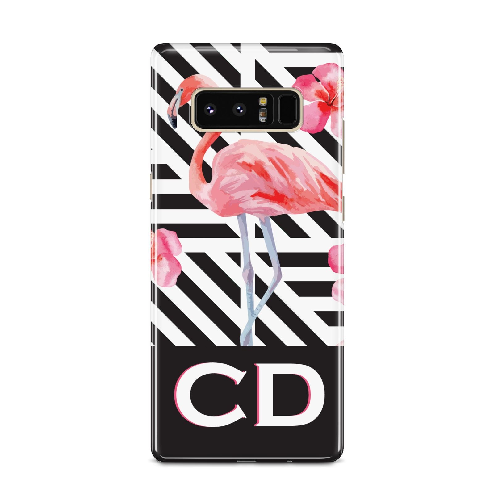 Flamingo Black Geometric Samsung Galaxy Note 8 Case