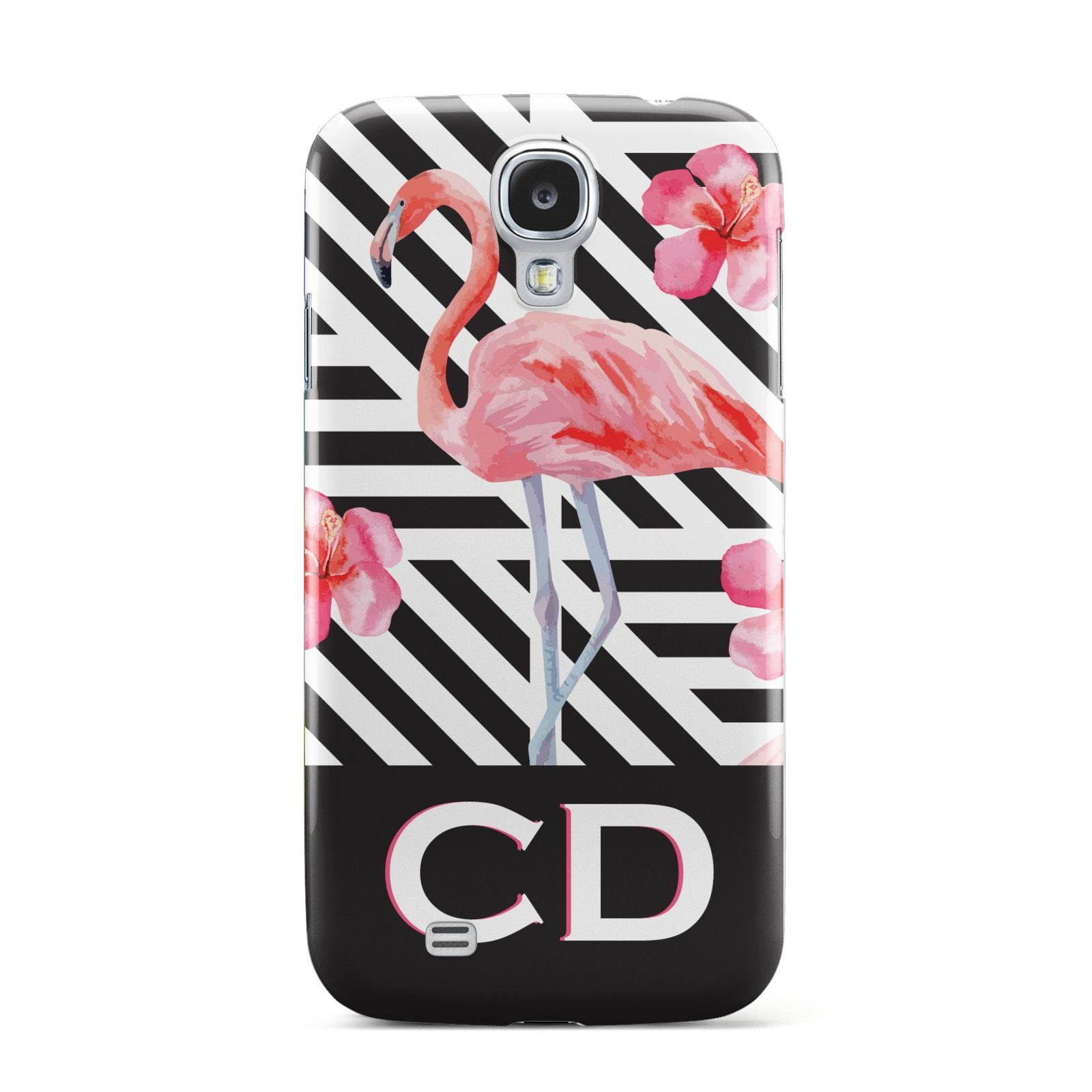 Flamingo Black Geometric Samsung Galaxy S4 Case