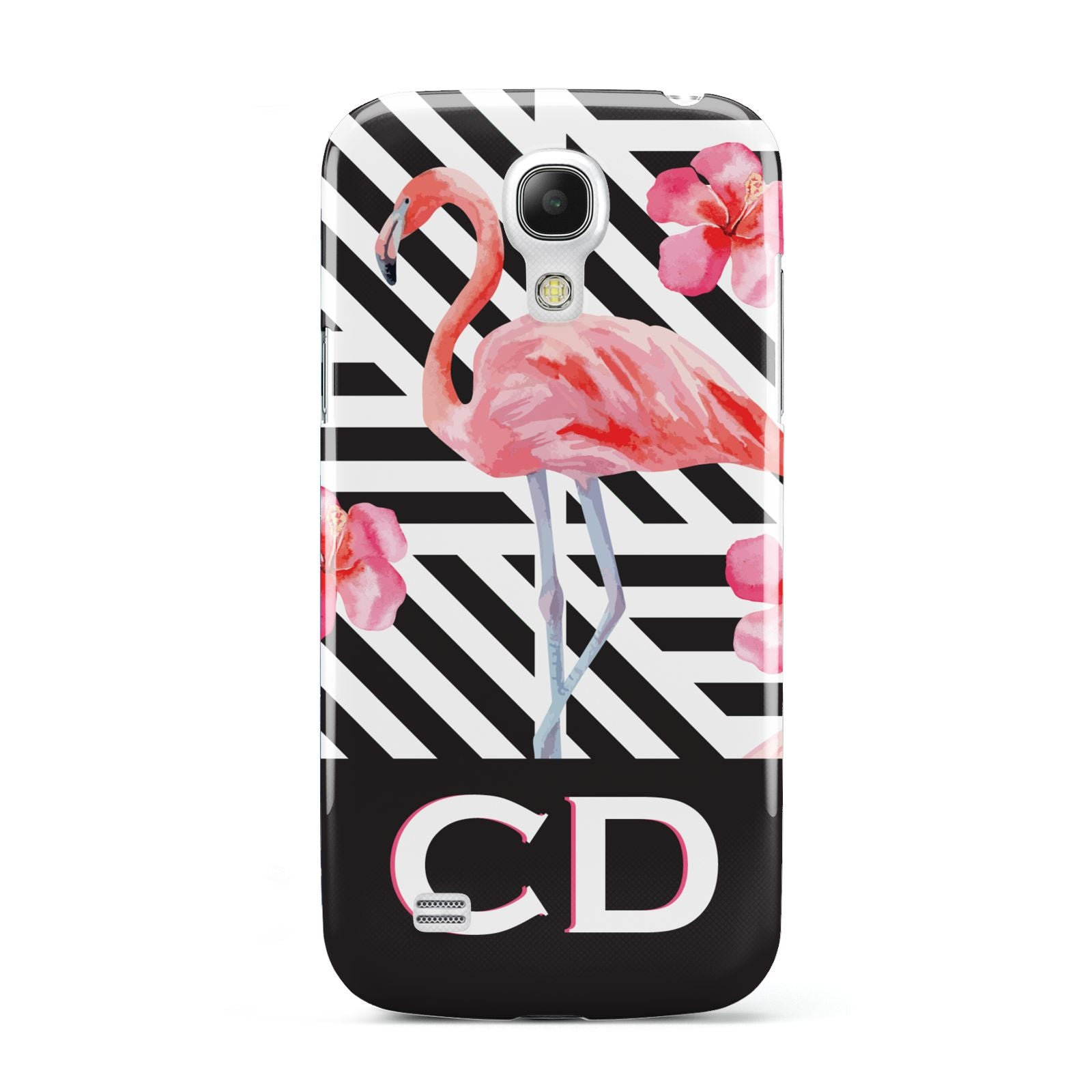 Flamingo Black Geometric Samsung Galaxy S4 Mini Case