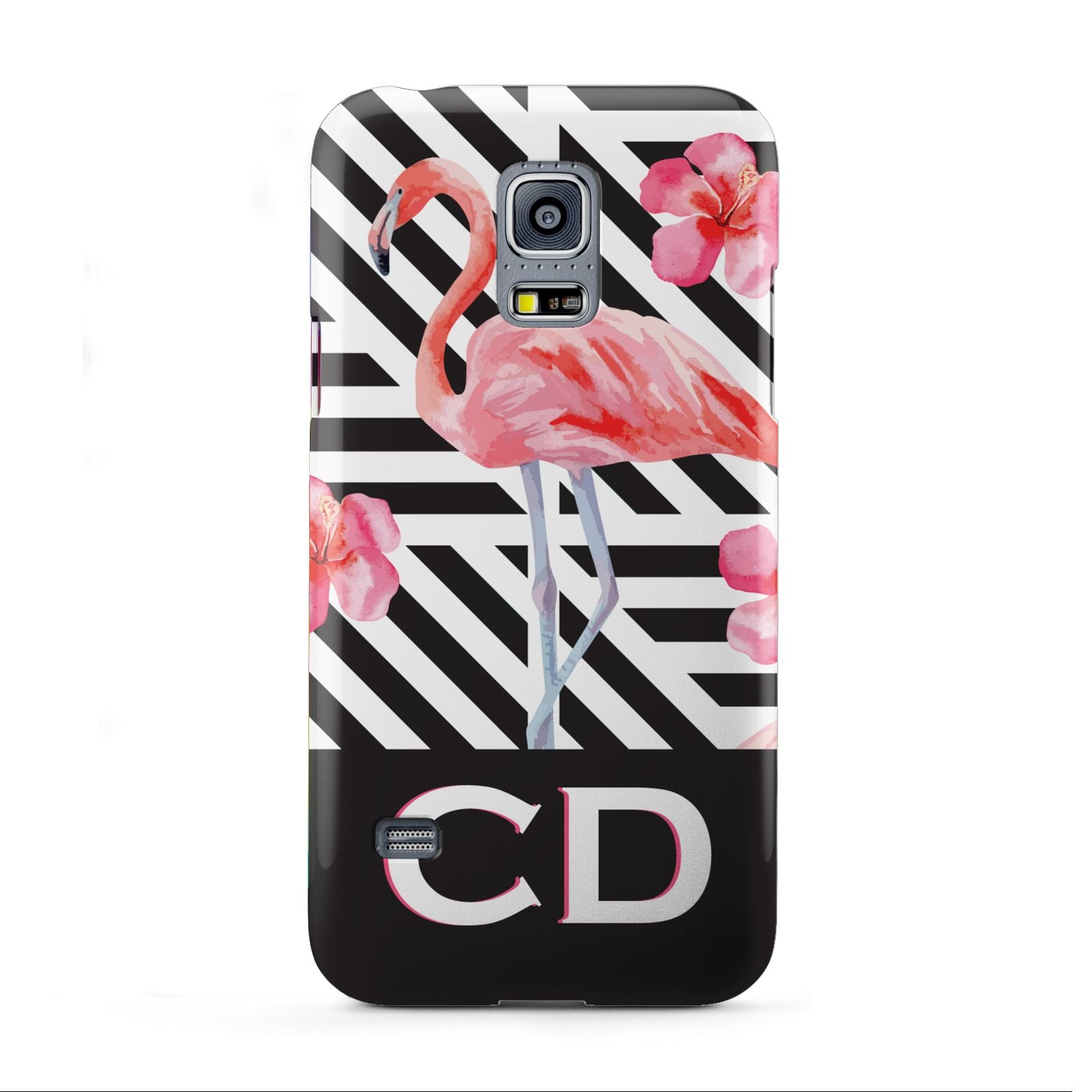 Flamingo Black Geometric Samsung Galaxy S5 Mini Case