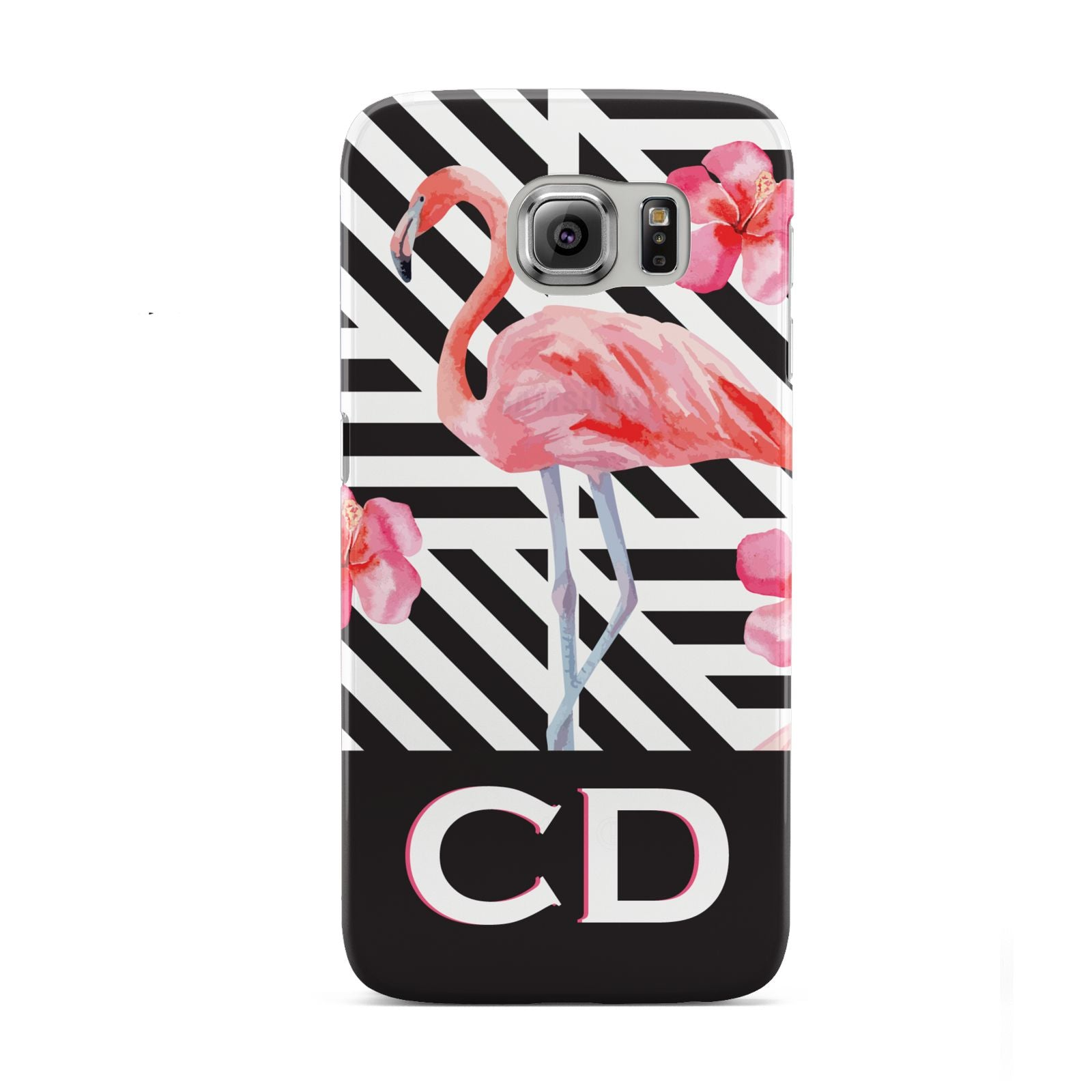 Flamingo Black Geometric Samsung Galaxy S6 Case
