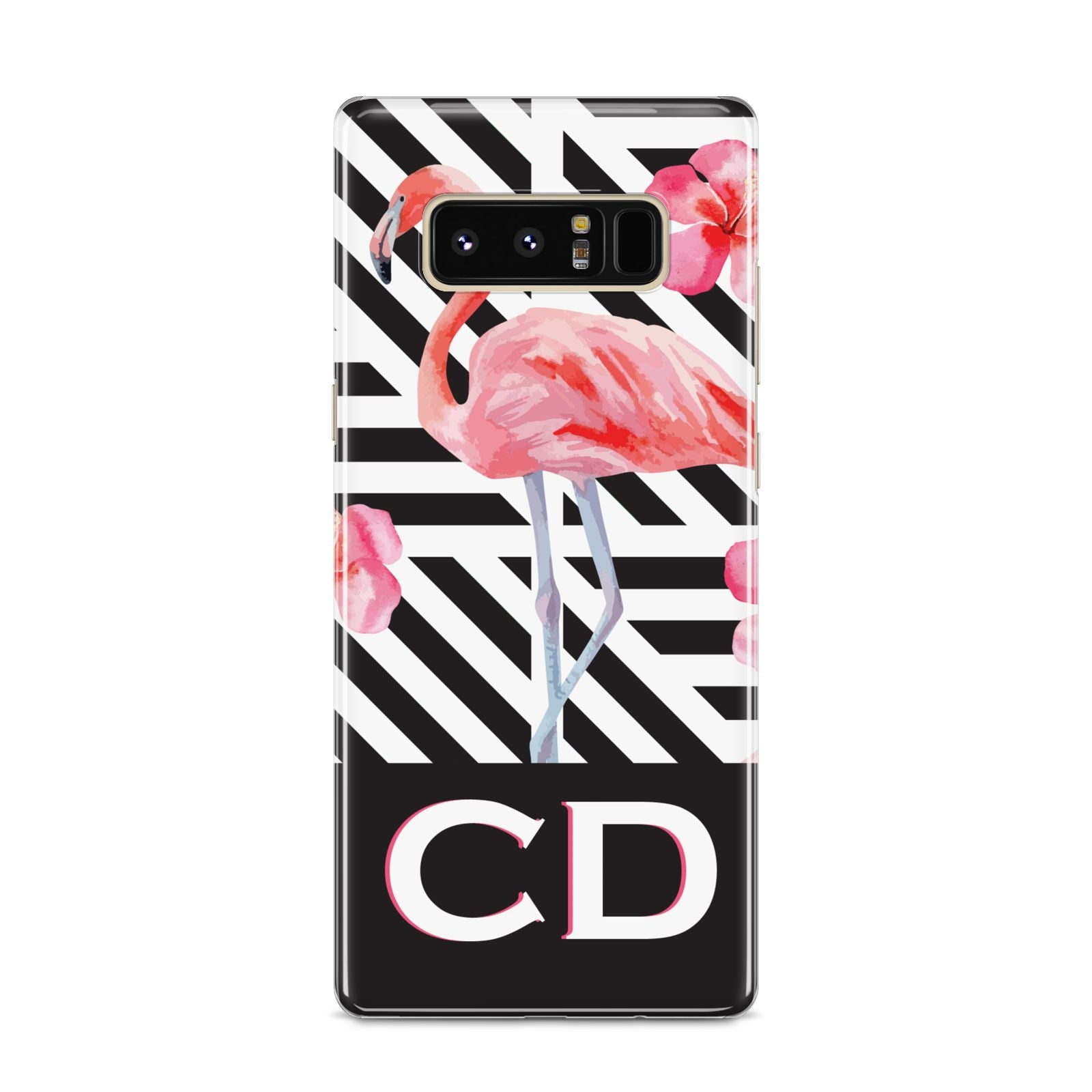 Flamingo Black Geometric Samsung Galaxy S8 Case