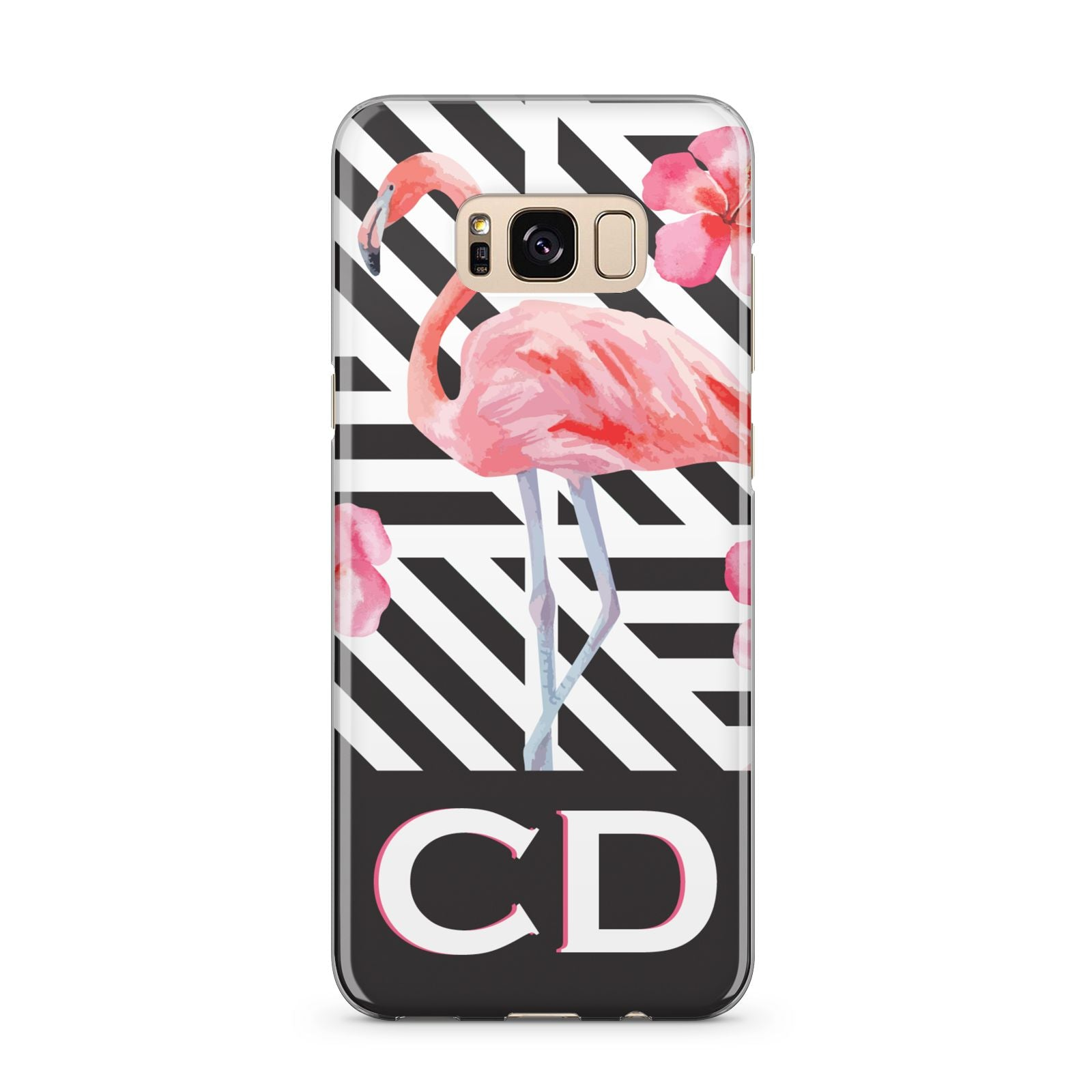 Flamingo Black Geometric Samsung Galaxy S8 Plus Case